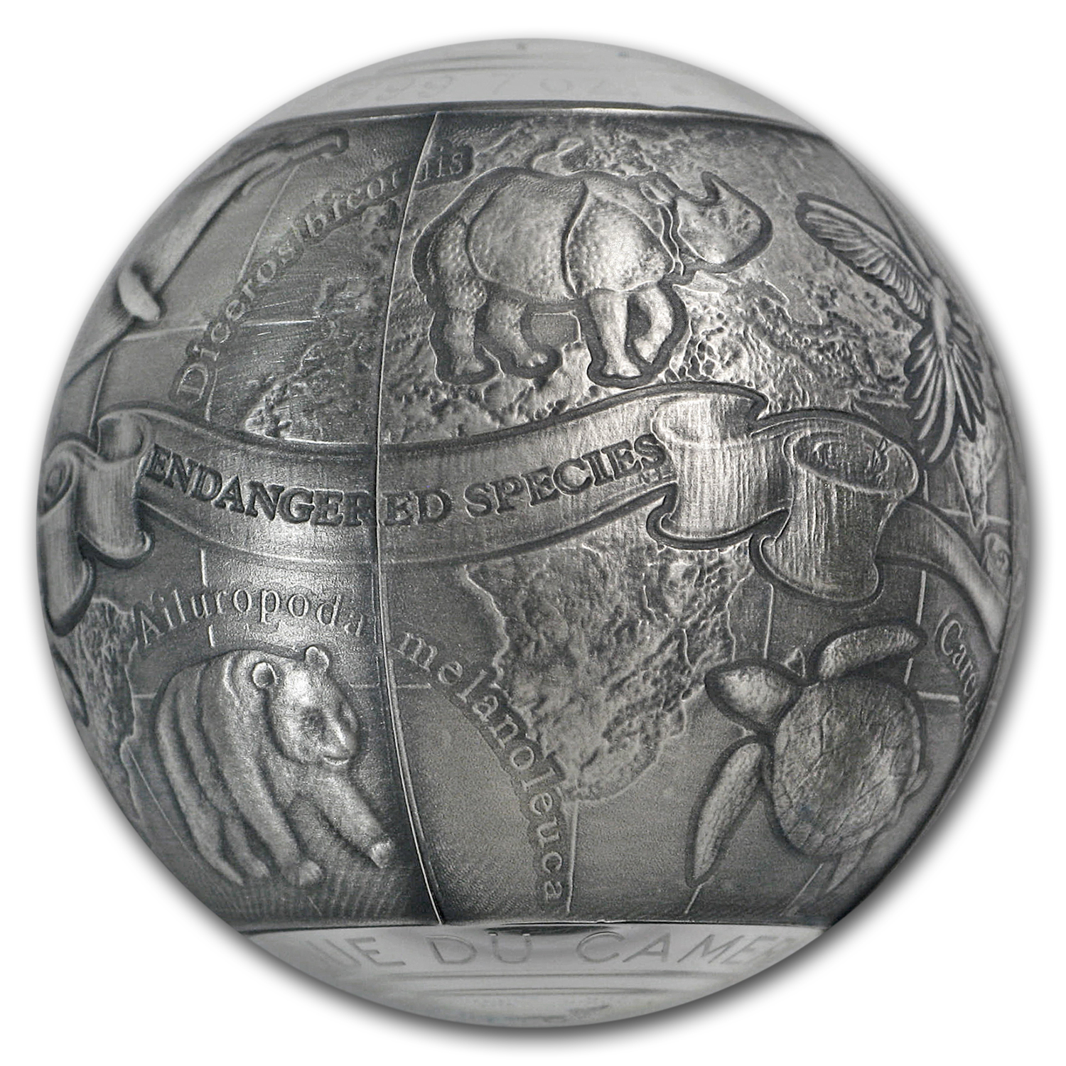 2017 Cameroon 7 oz Silver SOS Endangered Animal Species Spherical