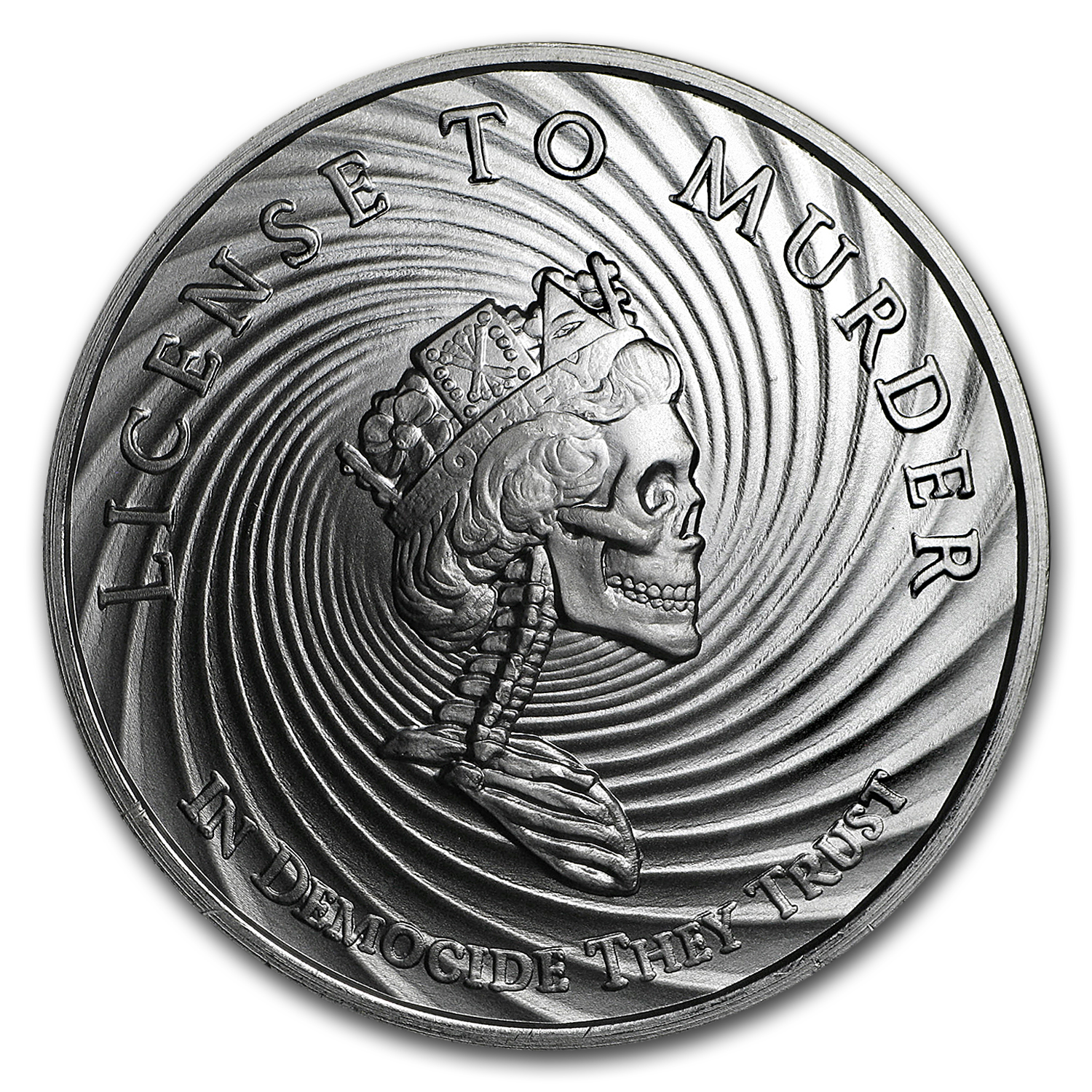 2017 1 oz Silver Shield Round - MiniMintage (Democide)