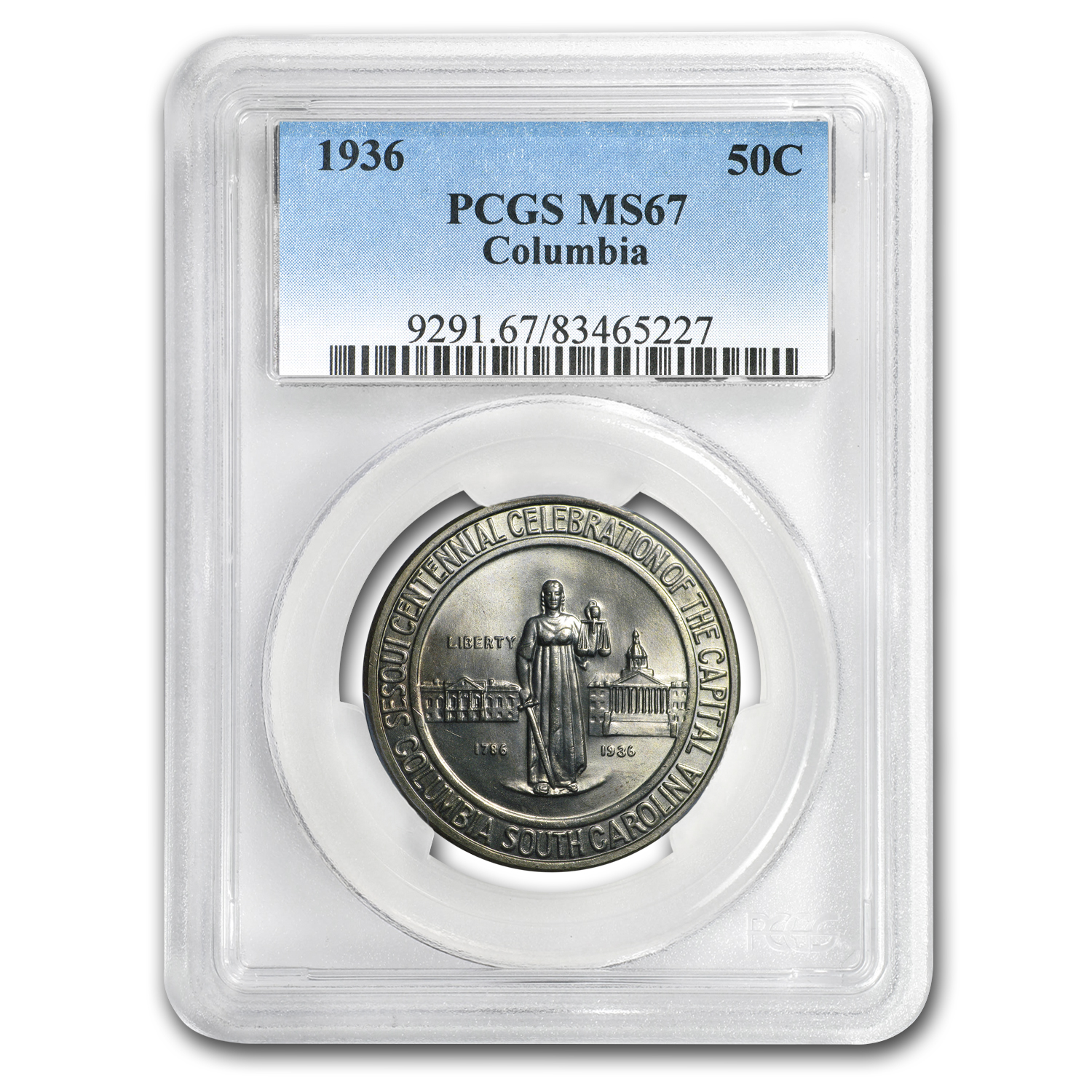 1936 Columbia, SC Half Dollar Commem MS-67 PCGS