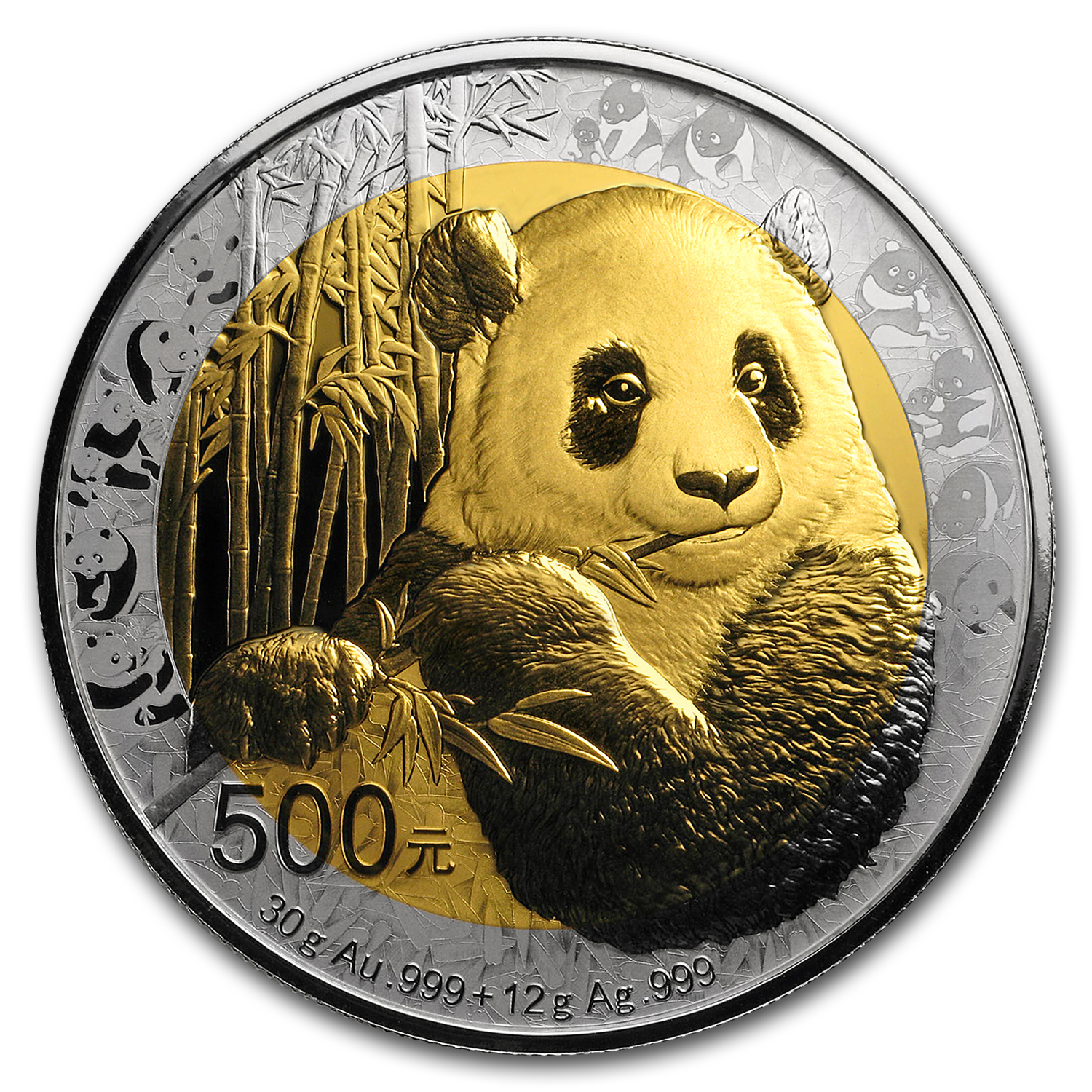 2017 China 30 gram Bi-Metal 35th Anniversary of Gold Panda