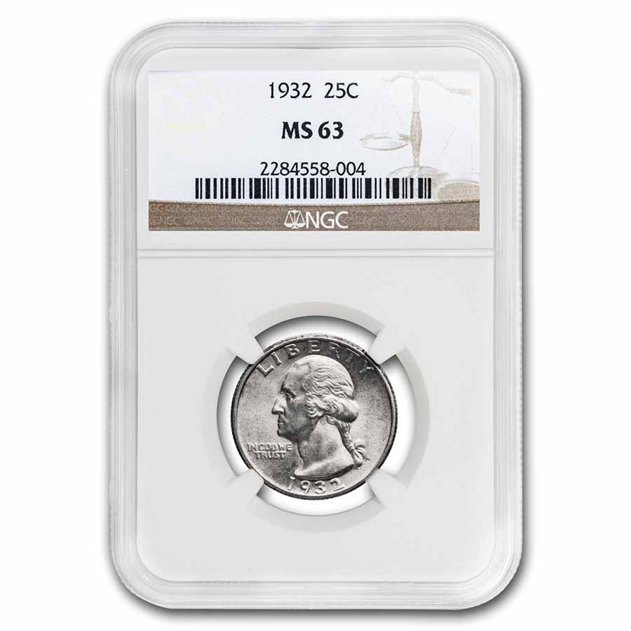 1932 Washington Quarter MS-63 PCGS