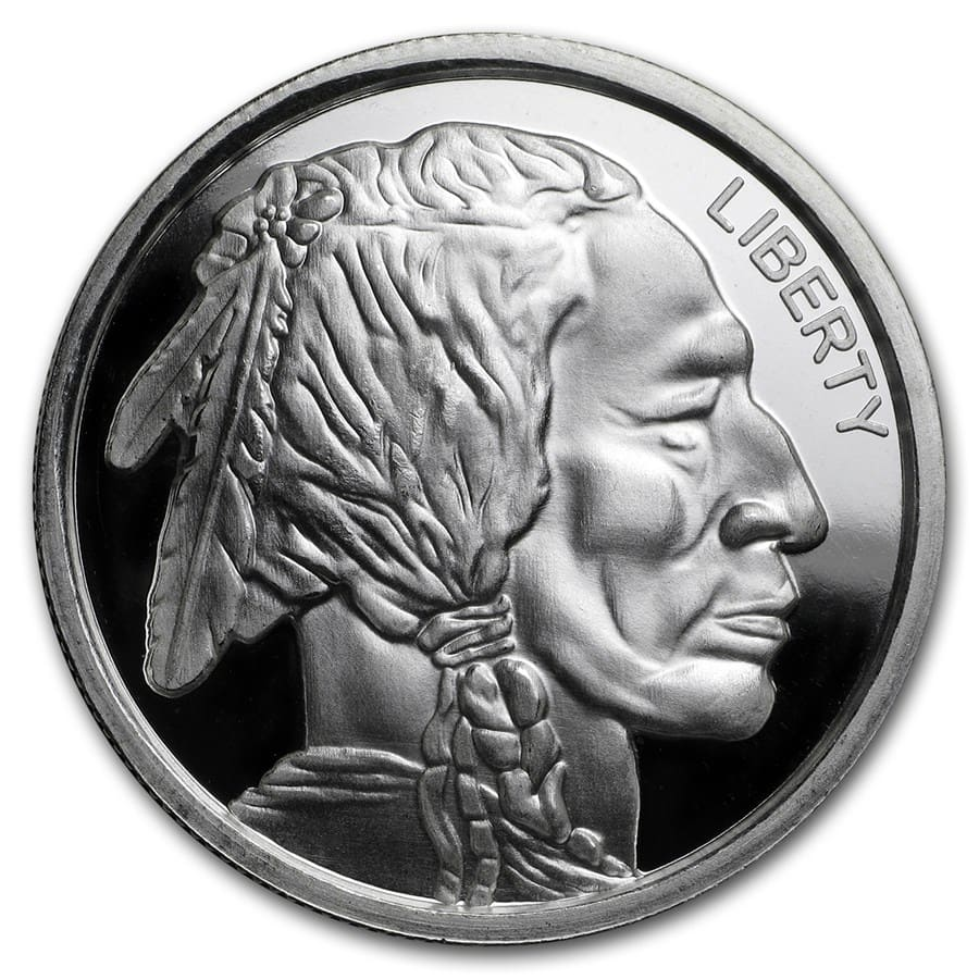 1 oz Silver Ultra High Relief Round - Buffalo