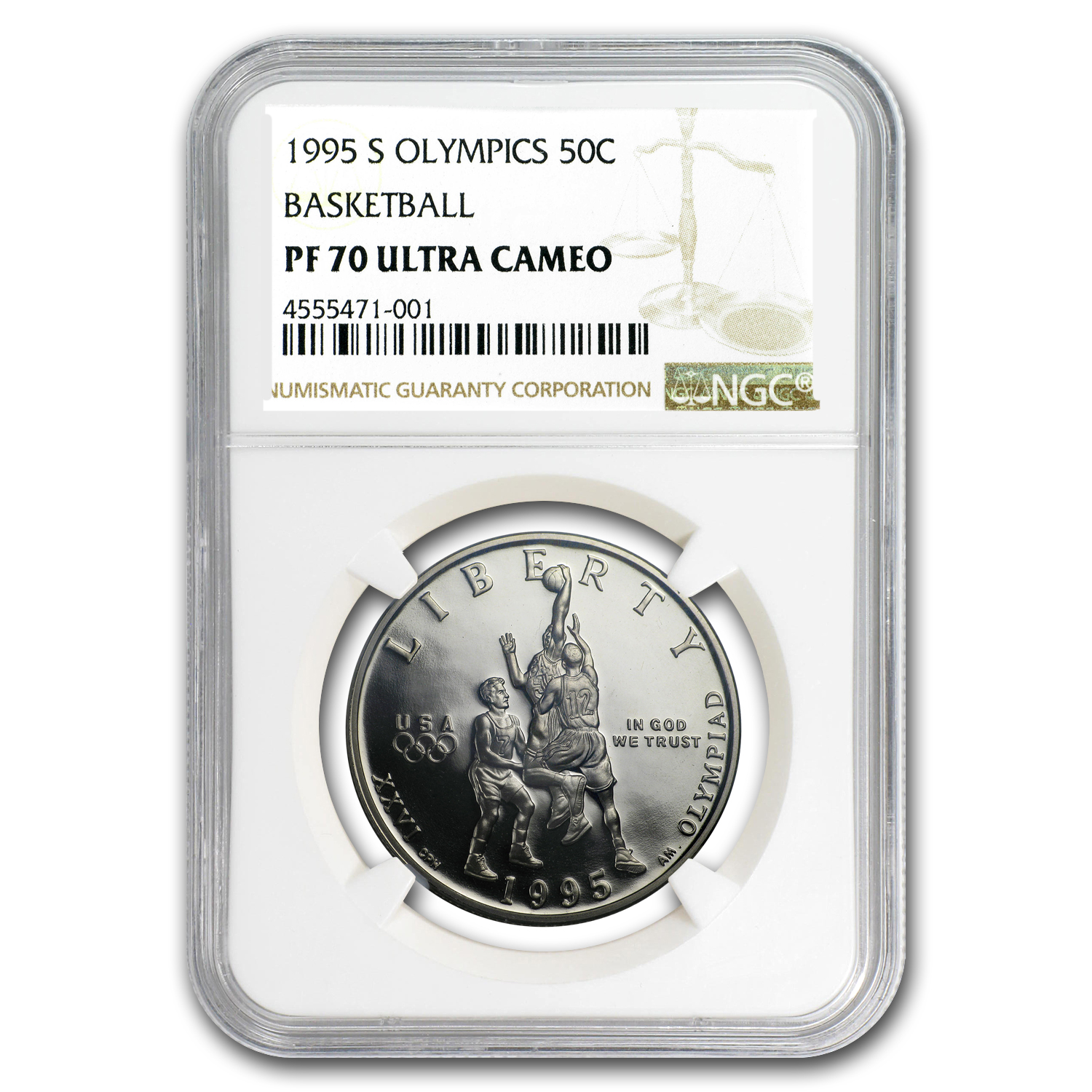 1995-S Basketball 1/2 Dollar Clad Commem PF-70 NGC