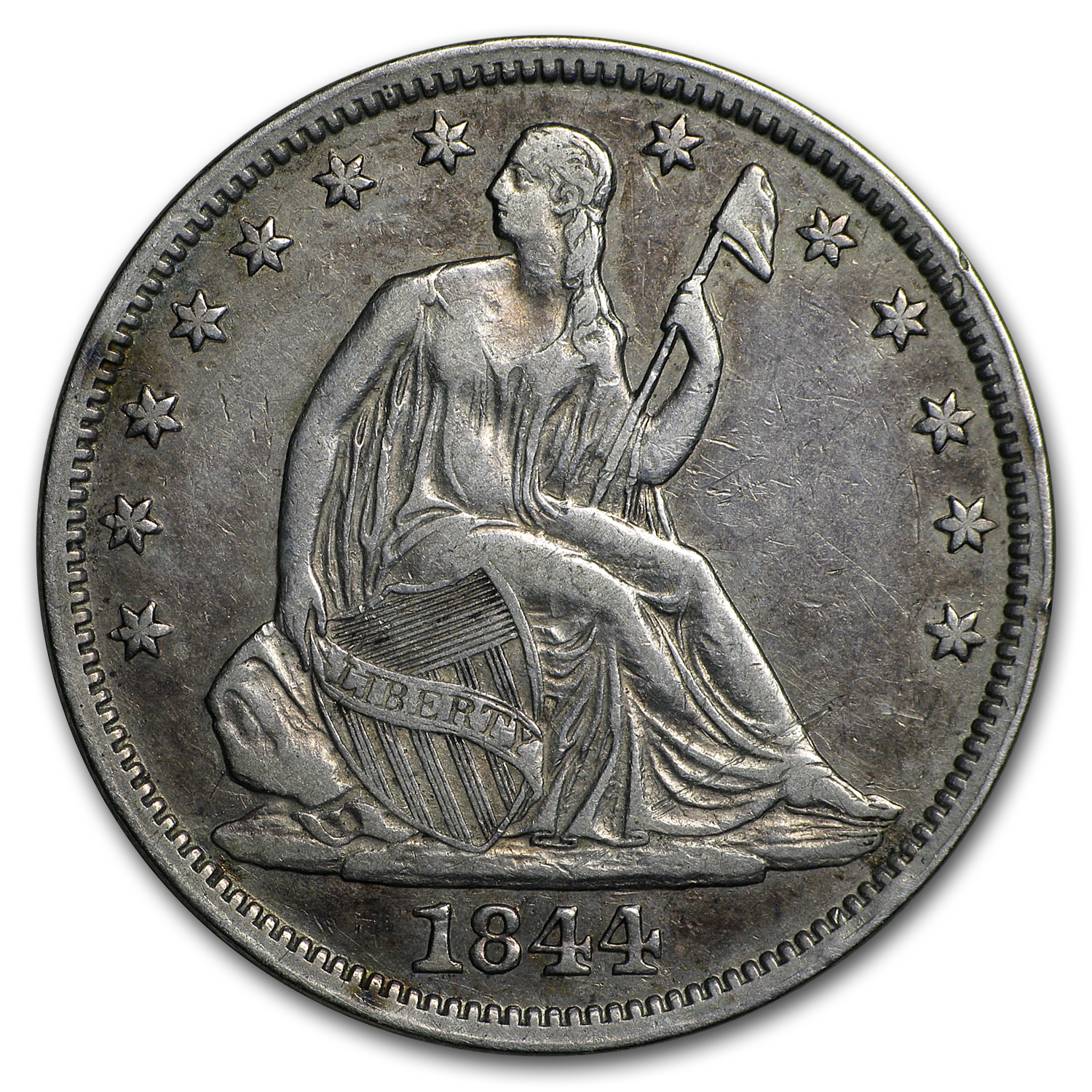 1844-O Liberty Seated Half Dollar VF
