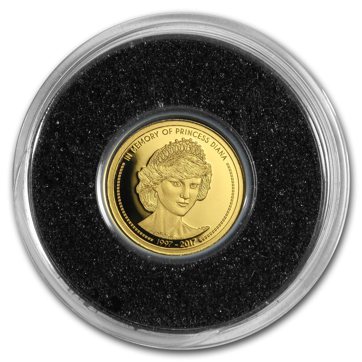 2017 Cook Islands 1/100 oz Gold In Memory of Princess Diana