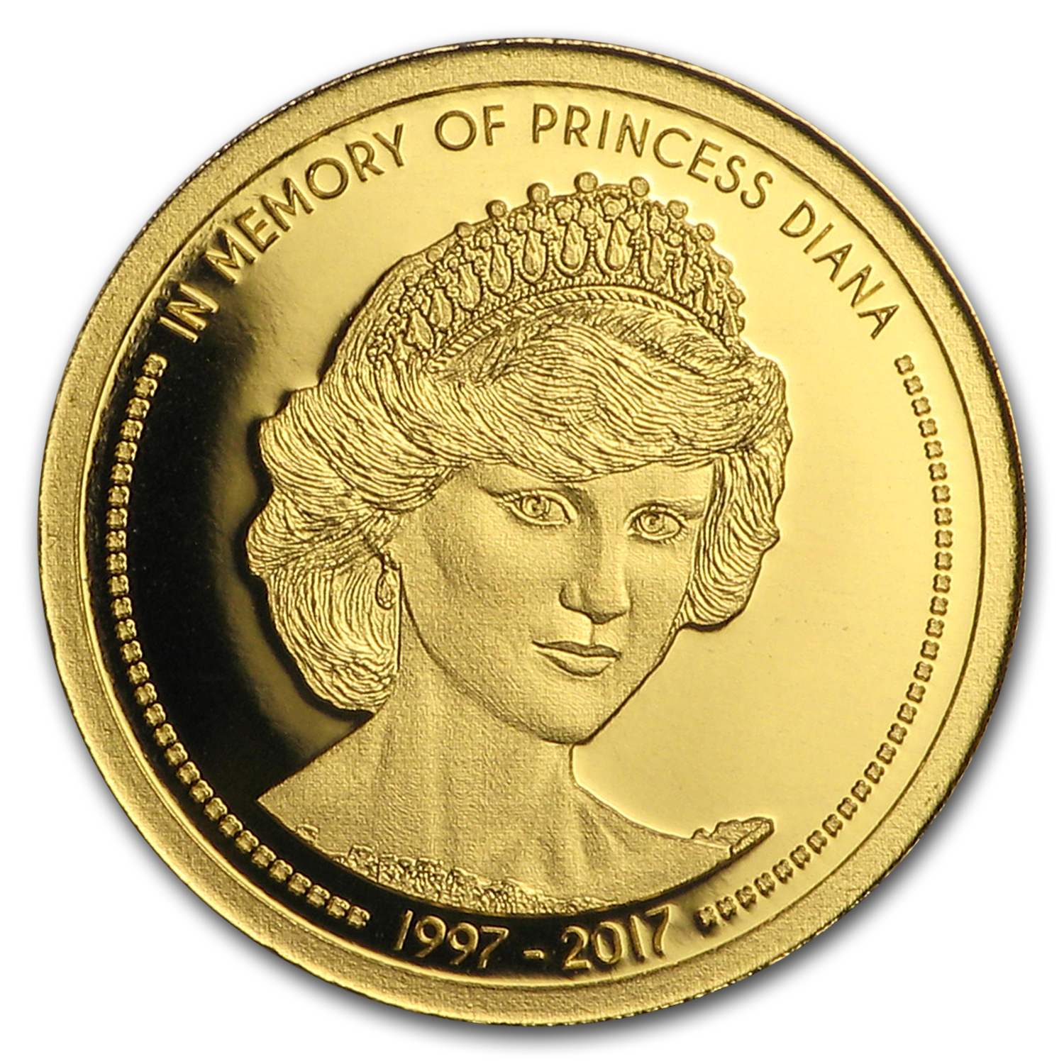 2017 Cook Islands 1 100 Oz Gold In Memory Of Princess