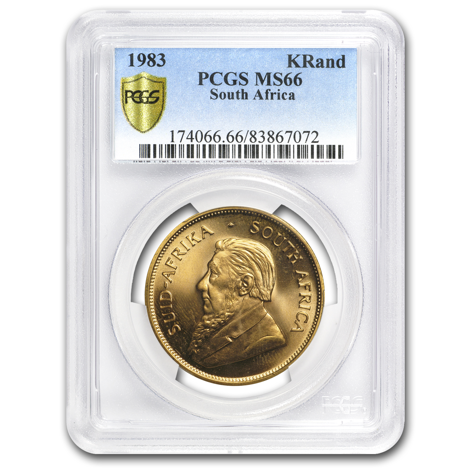 1983 South Africa 1 oz Gold Krugerrand MS-66 PCGS