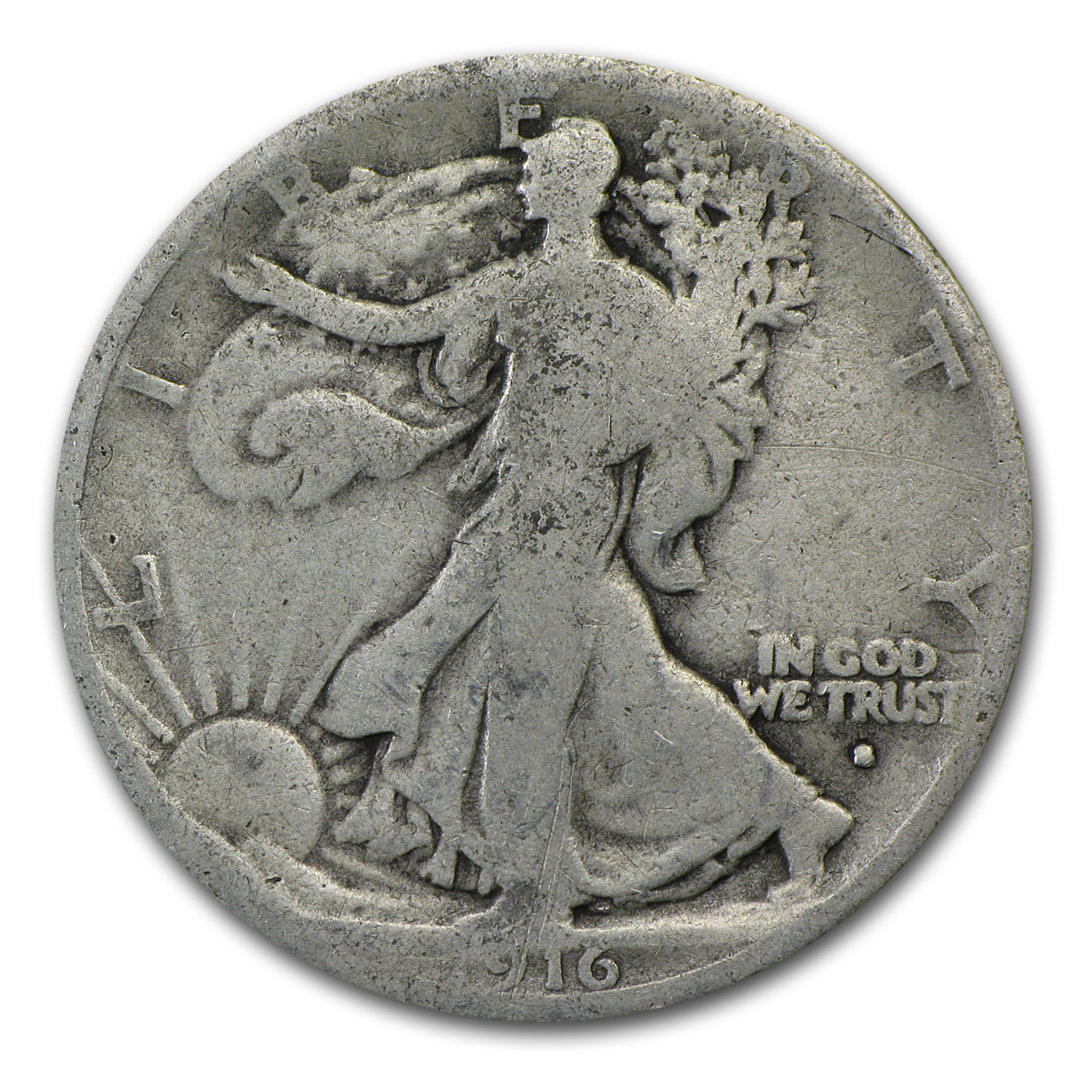 1916-S Walking Liberty Half Dollar AG