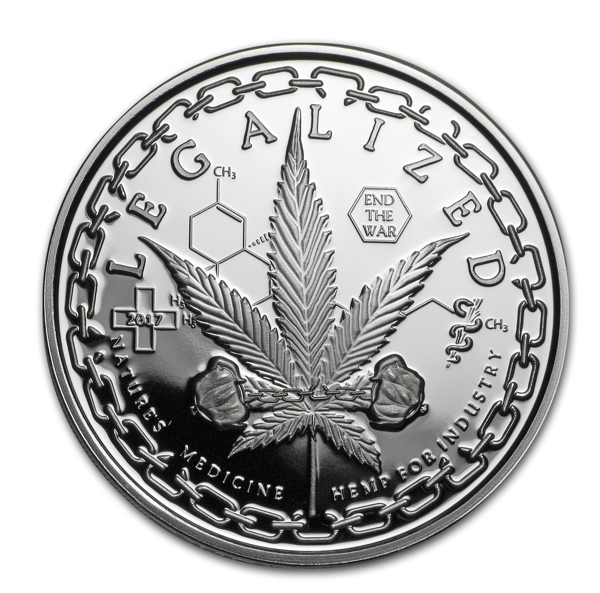 1 oz Silver Proof Round - Legalized (Colorado)
