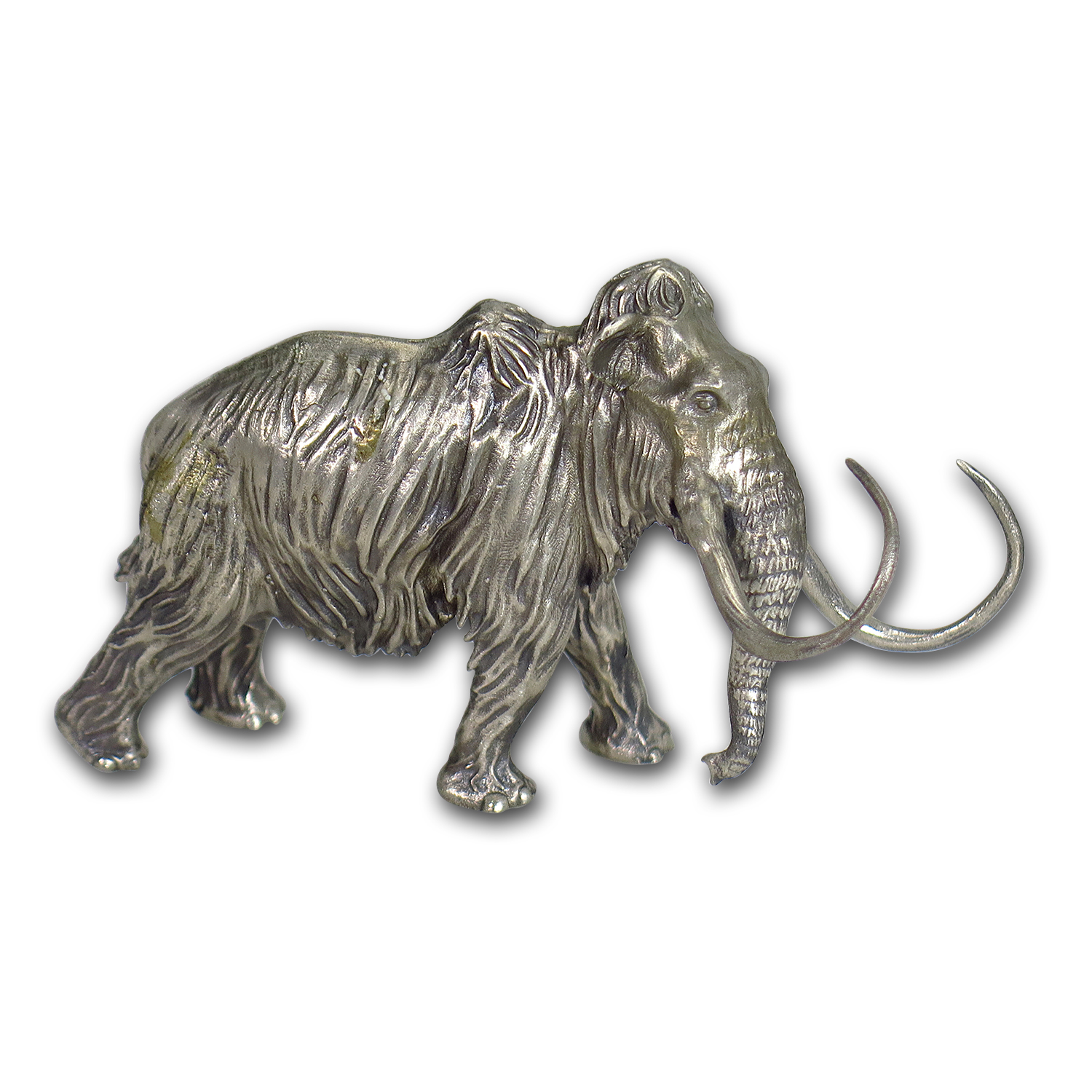 8 oz Silver Antique Statue - Woolly Mammoth