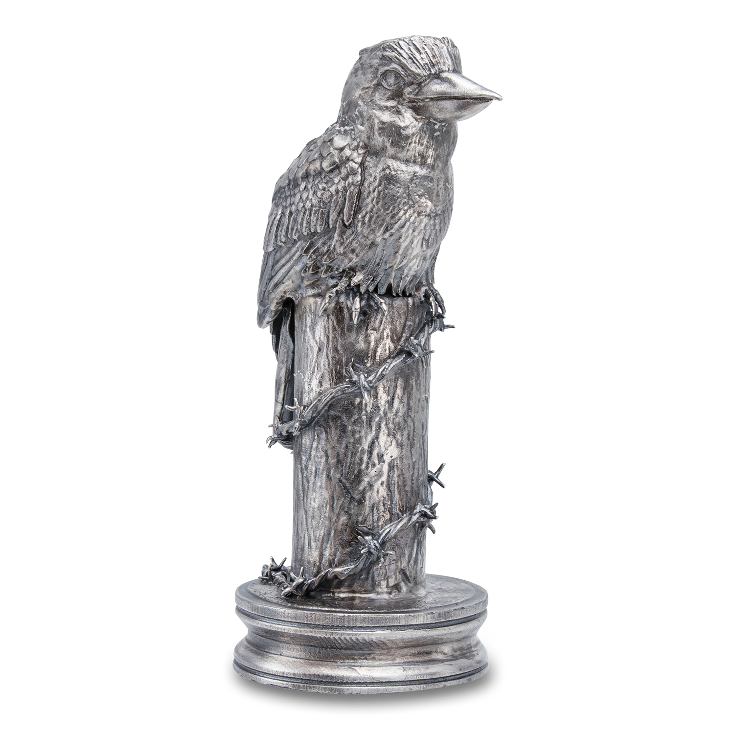 20 oz Silver Antique Statue - Coins of the World (Kookaburra)