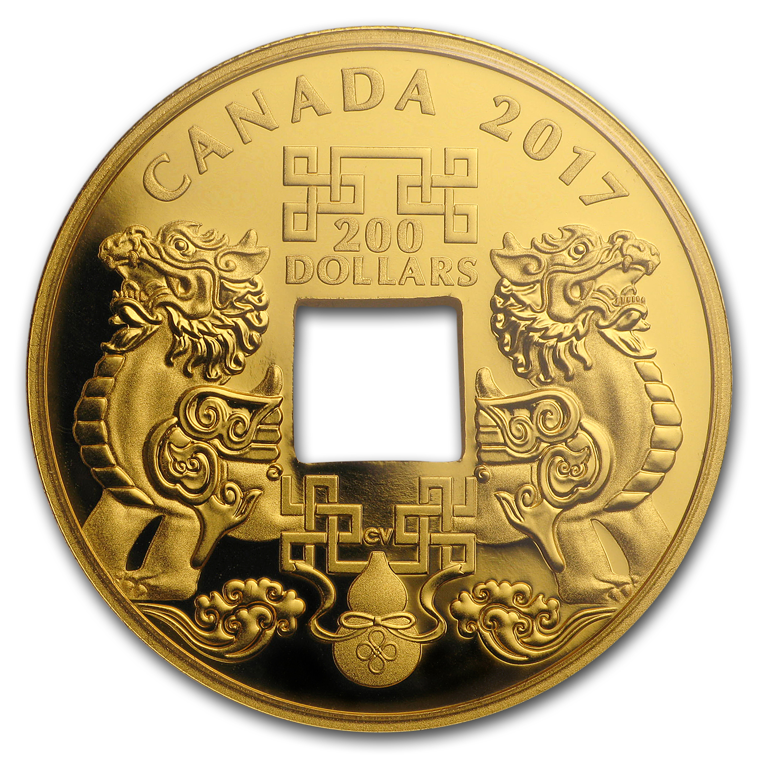 2017 1 oz Proof Gold $200 Feng Shui Good Luck Charms