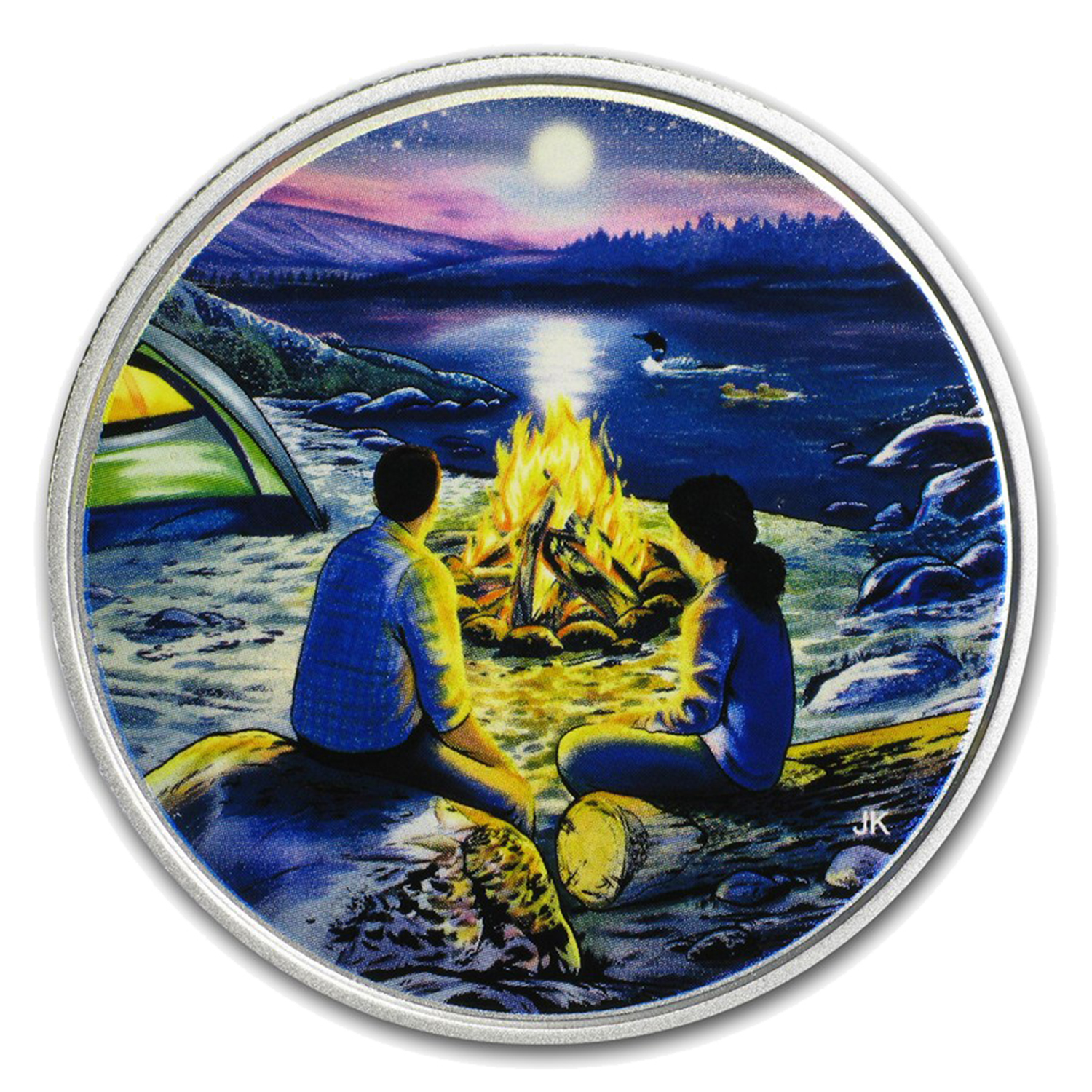 2017 RCM 3/4 oz Silver $15 Great Canadian Outdoors: Campfire