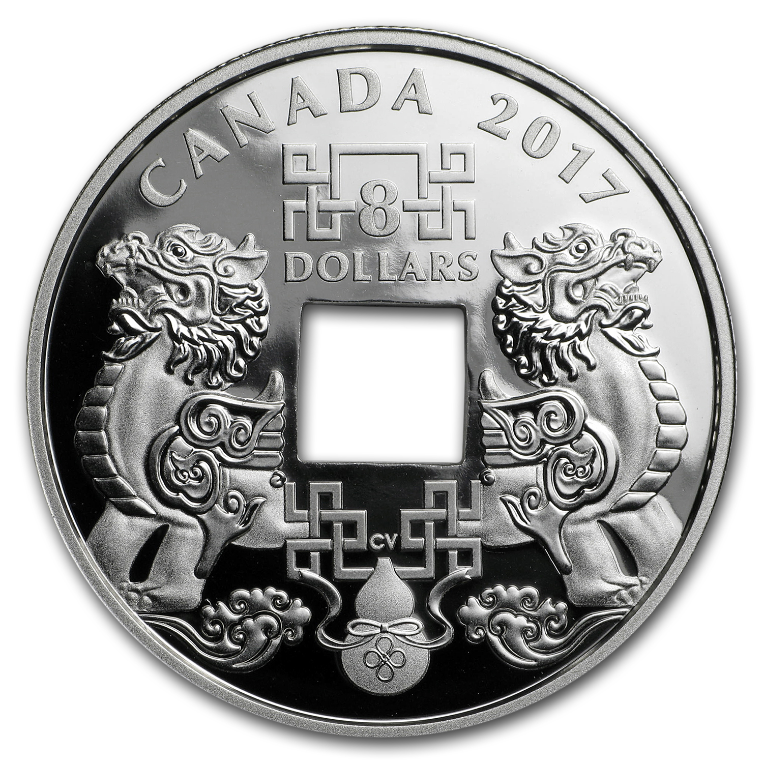 2017 Canada 2/3 oz Silver $8 Feng Shui Good Luck Charms