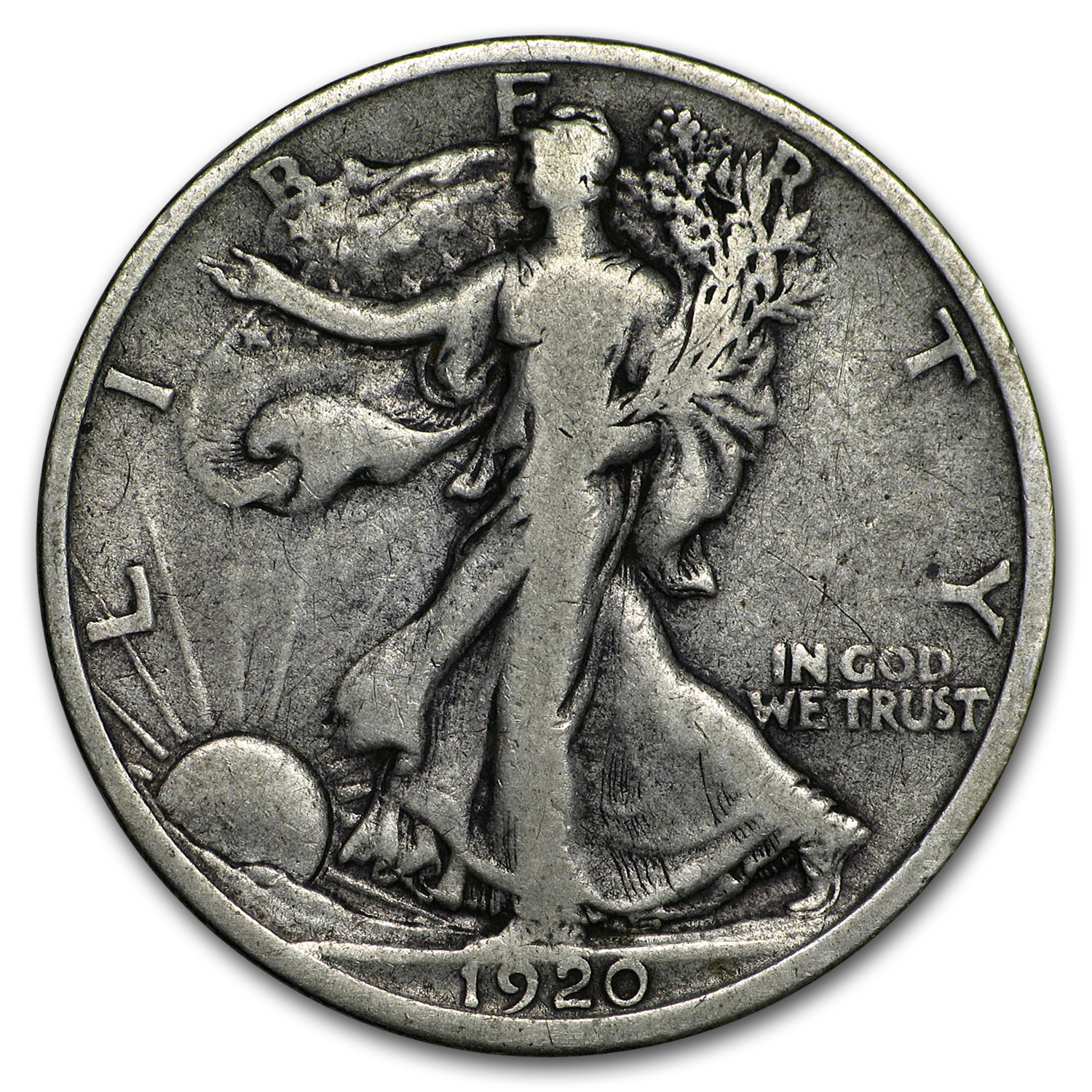 1920-D Walking Liberty Half Dollar Fine