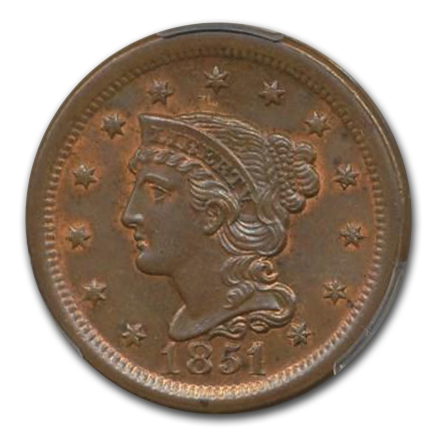 1851/81 Large Cent MS-65 PCGS (Brown)