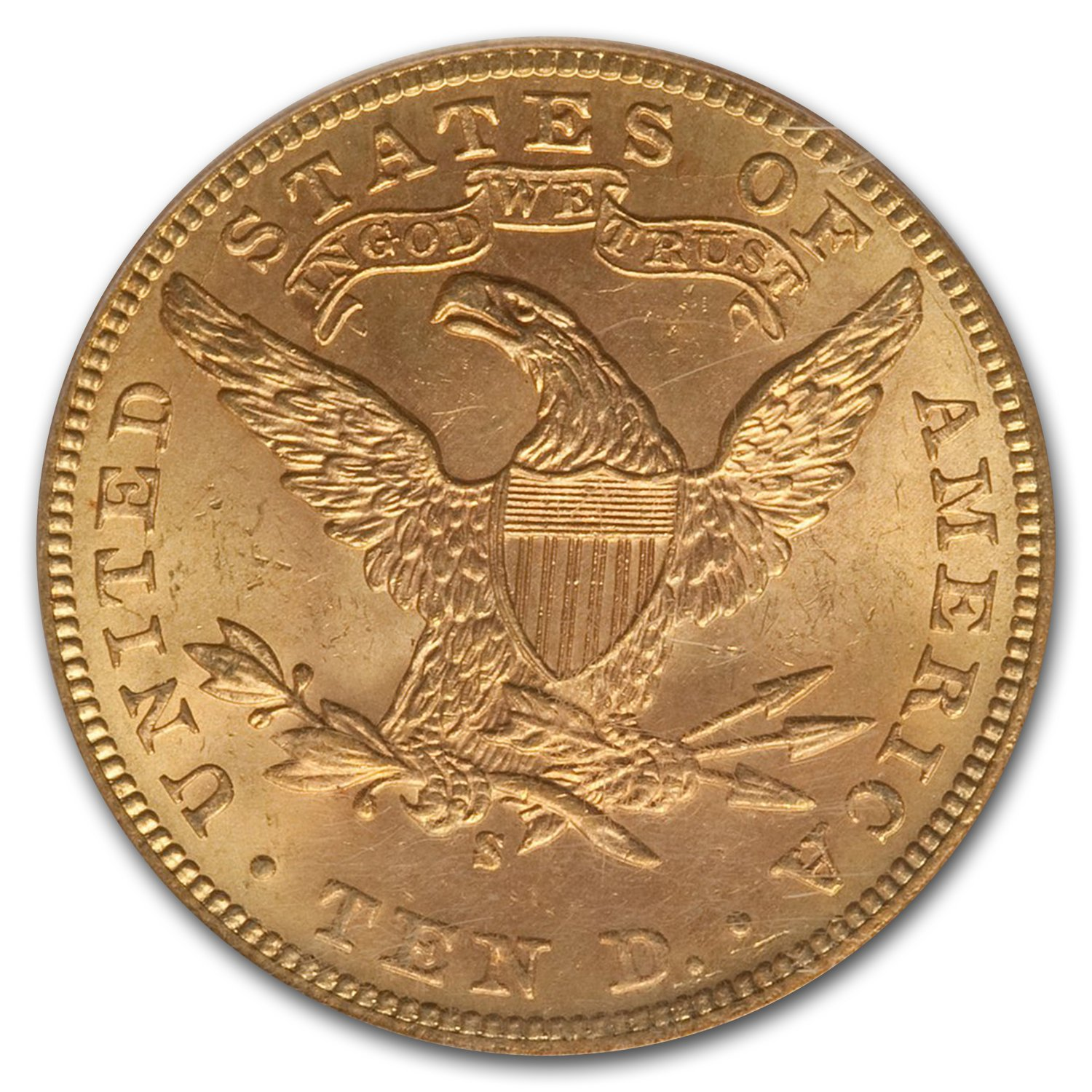 1901-S $10 Liberty Gold Eagle MS-63 PCGS CAC