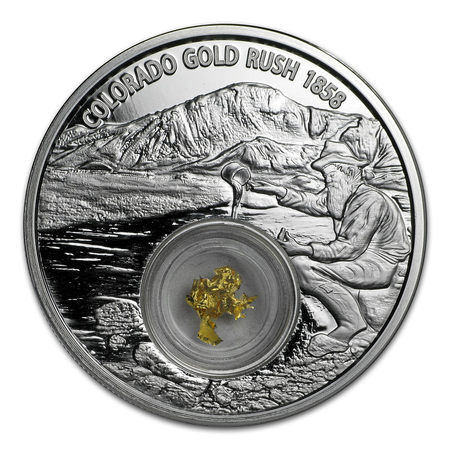 2017 Niue 1 oz Silver Colorado Gold Rush Proof