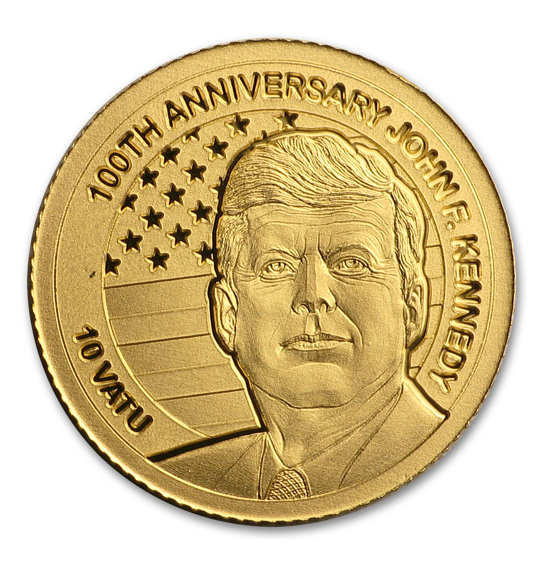 2017 Vanuatu 1/2 gram Gold 100th Anniversary of John F. Kennedy