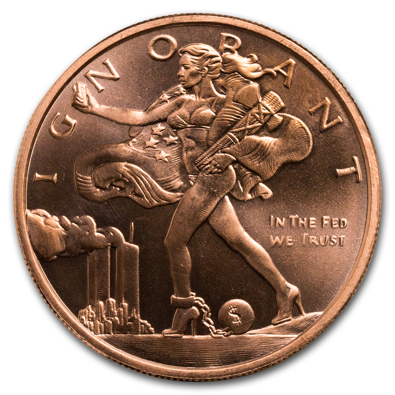 2017 1 oz Copper Shield Round - MiniMintage (Blinded Liberty)