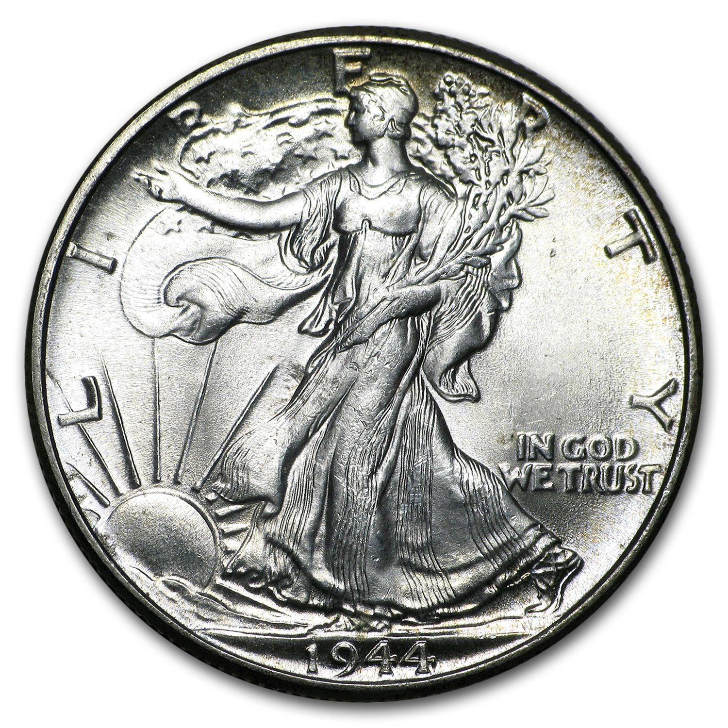 1944 Walking Liberty Half Dollar BU