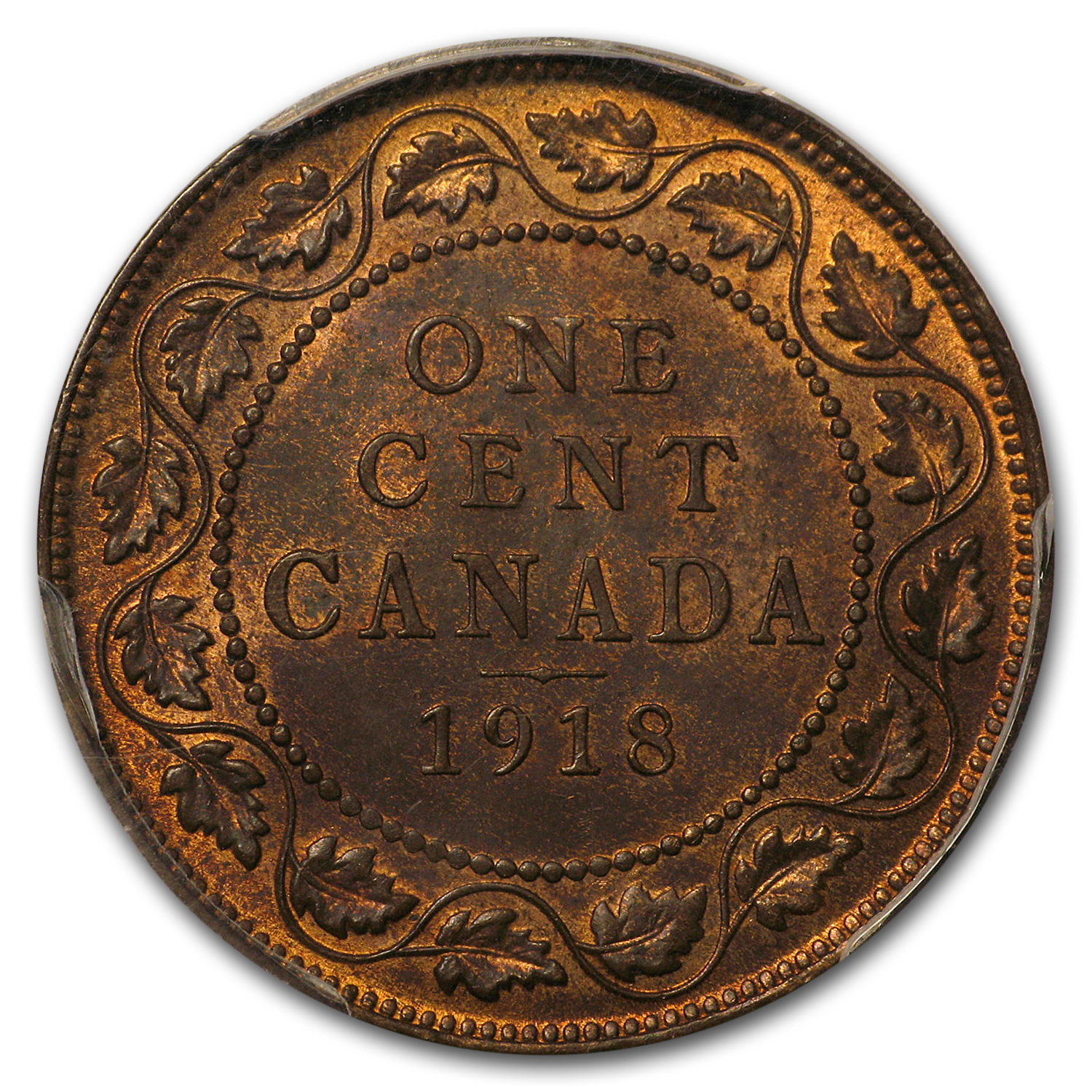 1918 Canada Large Cent MS-64 RB PCGS