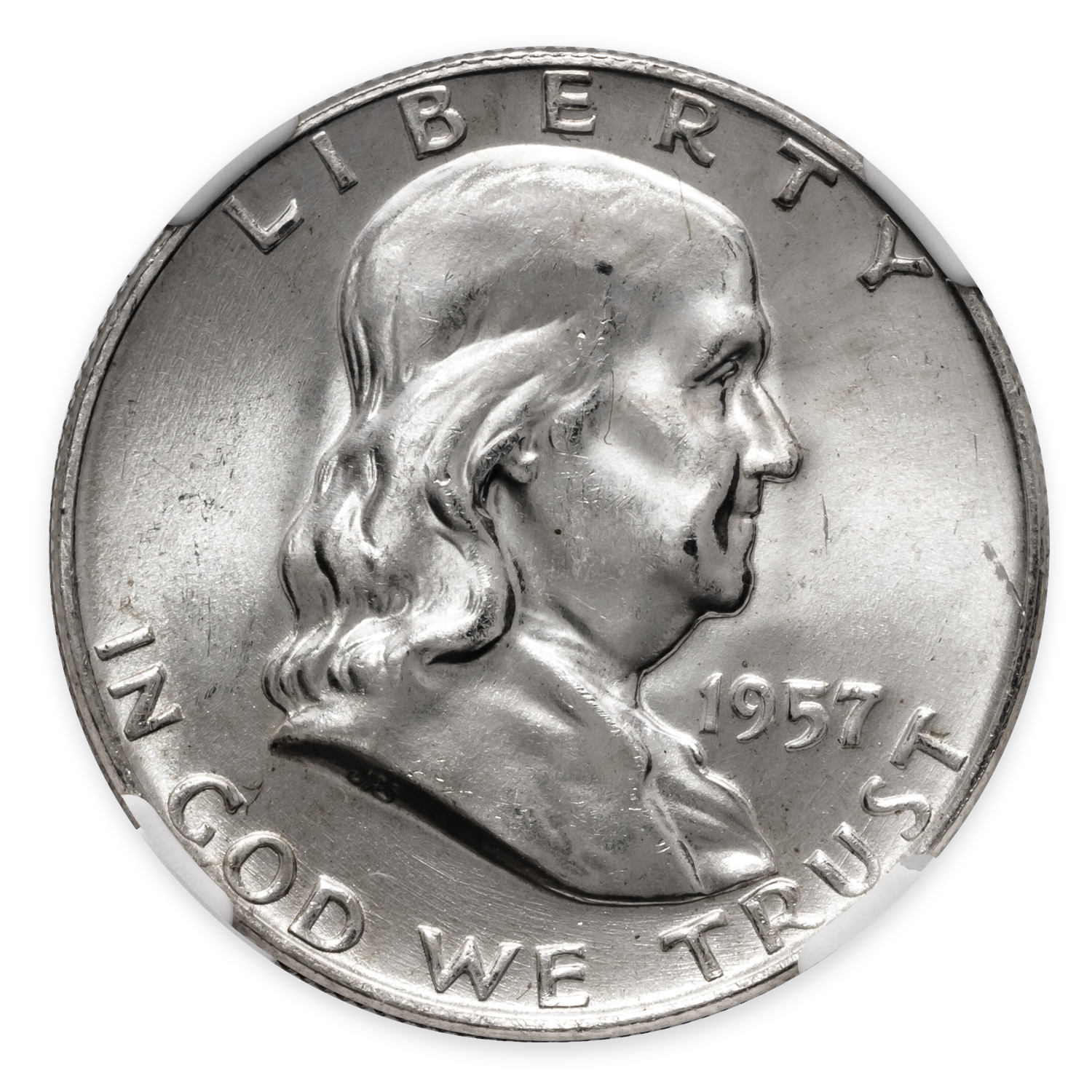 1957-D Franklin Half Dollar MS-65 NGC (FBL)