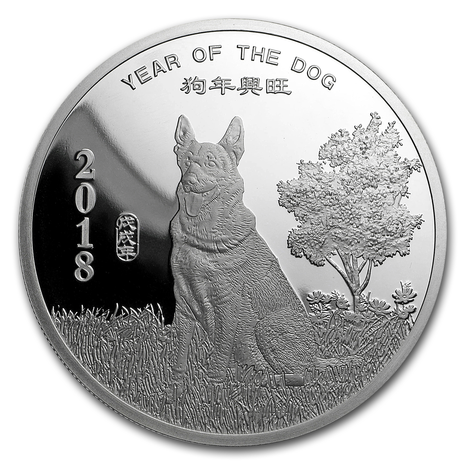 2 oz Silver Round - APMEX (2018 Year of the Dog)