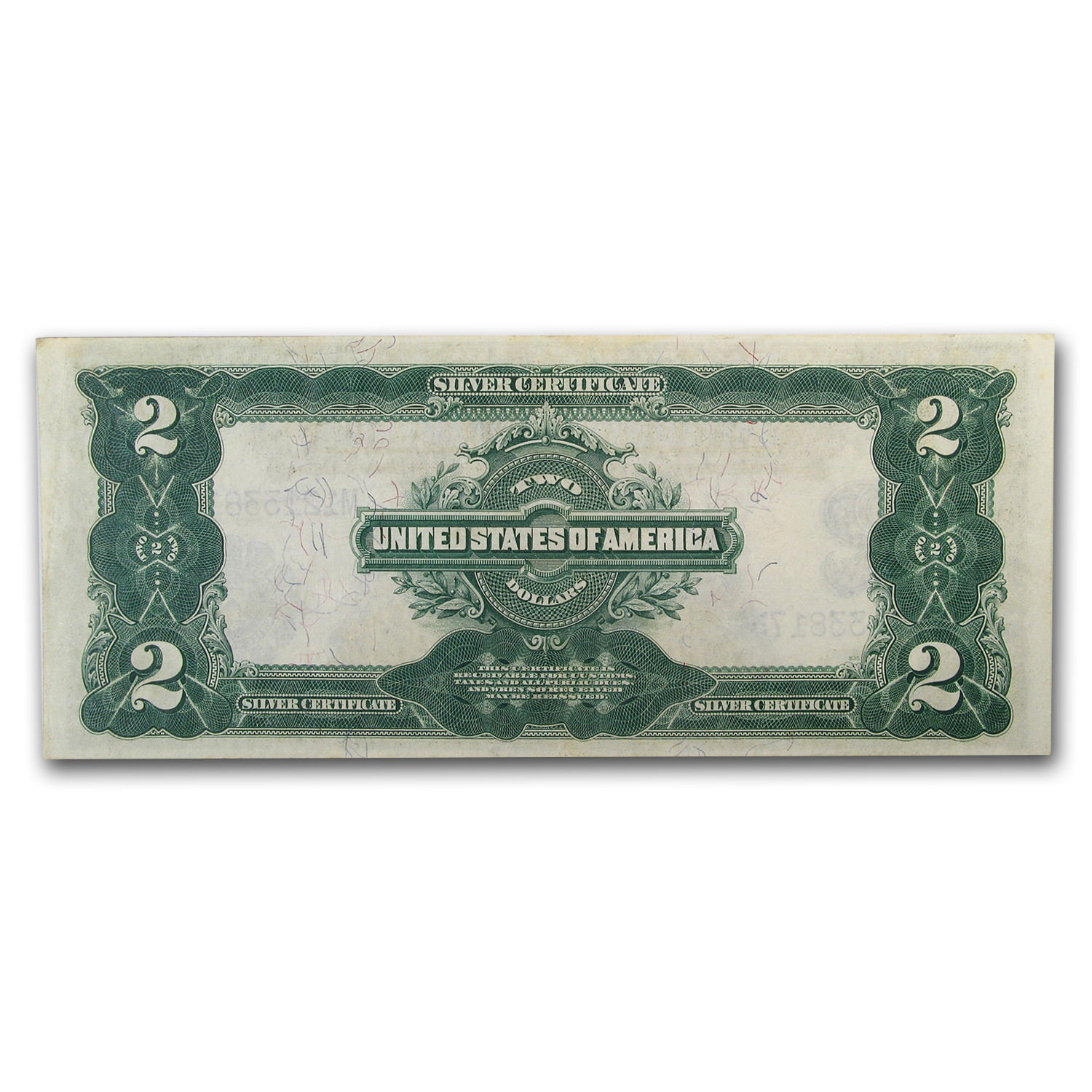 1899 $2.00 Silver Certificate George Washington AU-55 PMG