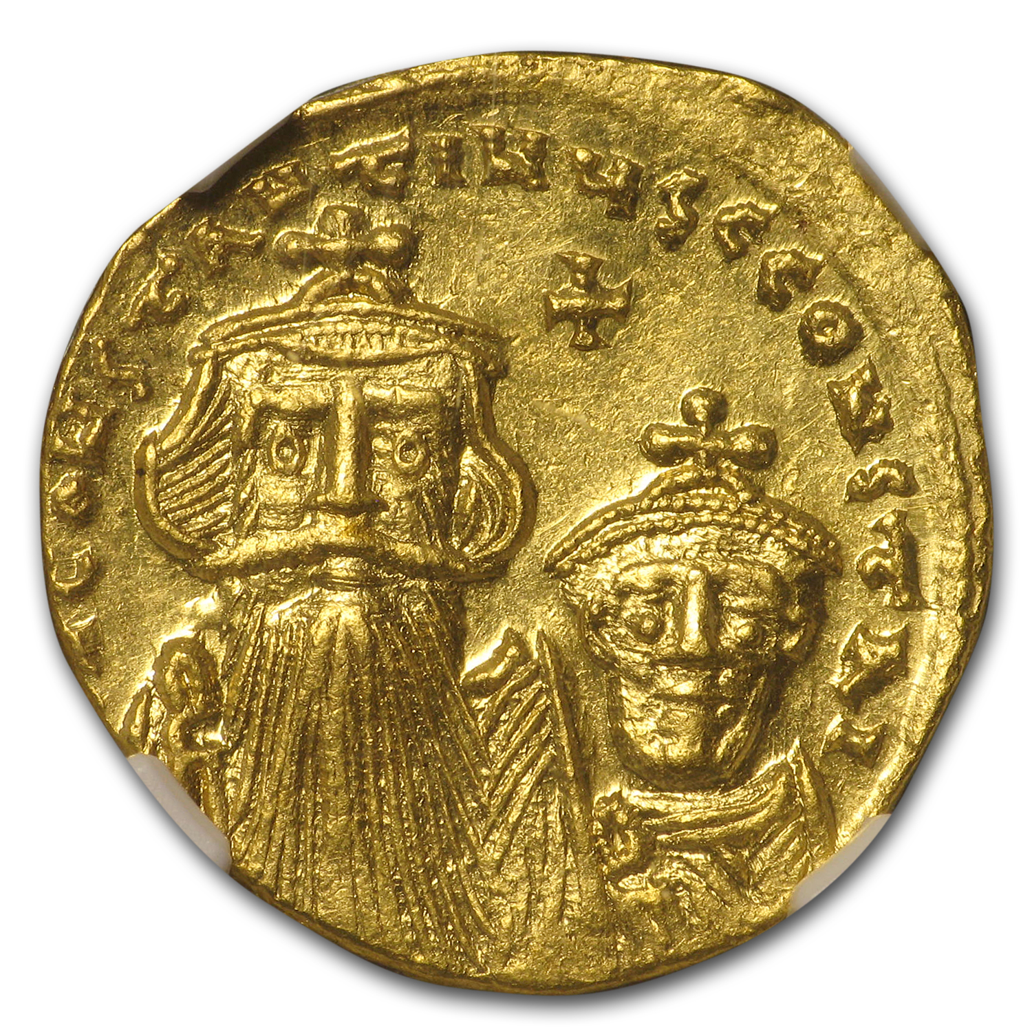 Byzantine Gold Constans II, Constant. IV (654-668 AD) NGC (Vault)