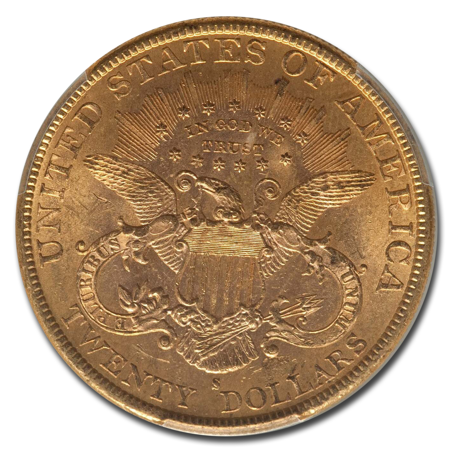 1891-S $20 Liberty Gold Double Eagle MS-63 PCGS
