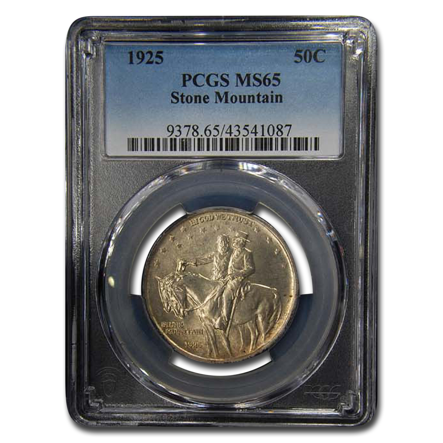 1925 Stone Mountain Memorial Half Dollar MS-65 PCGS (Toned)