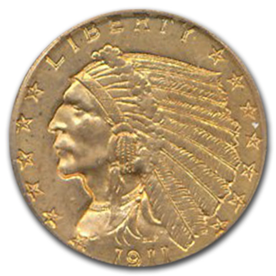 1911-D $2.50 Indian Gold Quarter Eagle MS-61 ICG