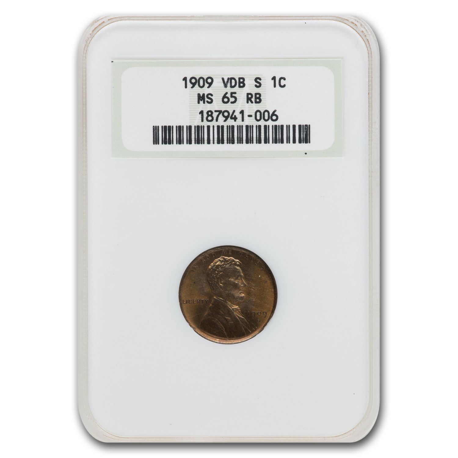1909 VDB Lincoln Cent MS-65 NGC (Red/Brown)