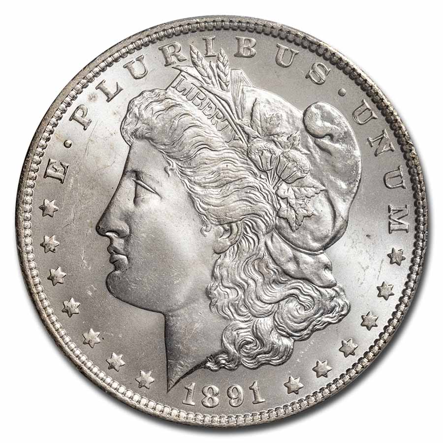 1891-CC Morgan Dollar MS-65 PCGS