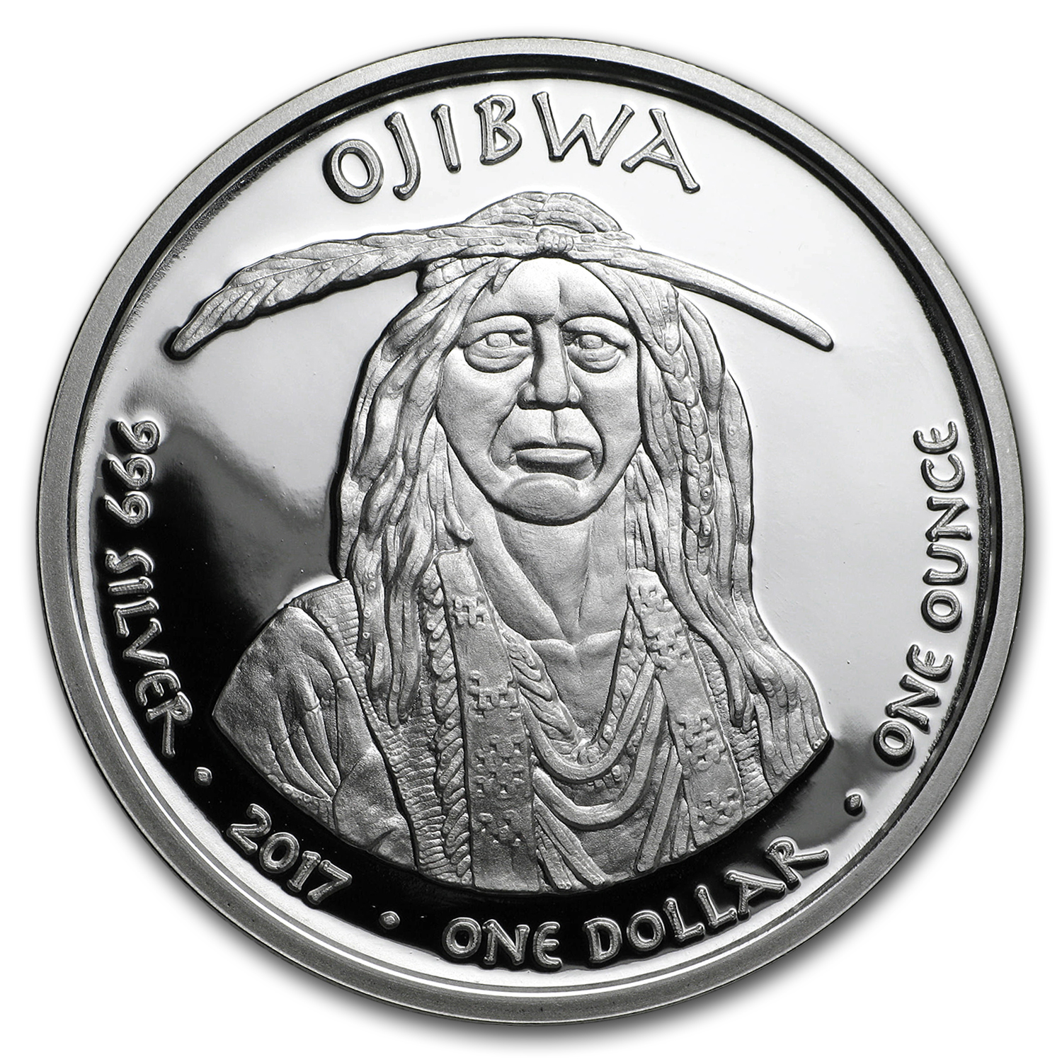 2017 1 oz Silver Proof State Dollars Ojibwa Michigan Swan
