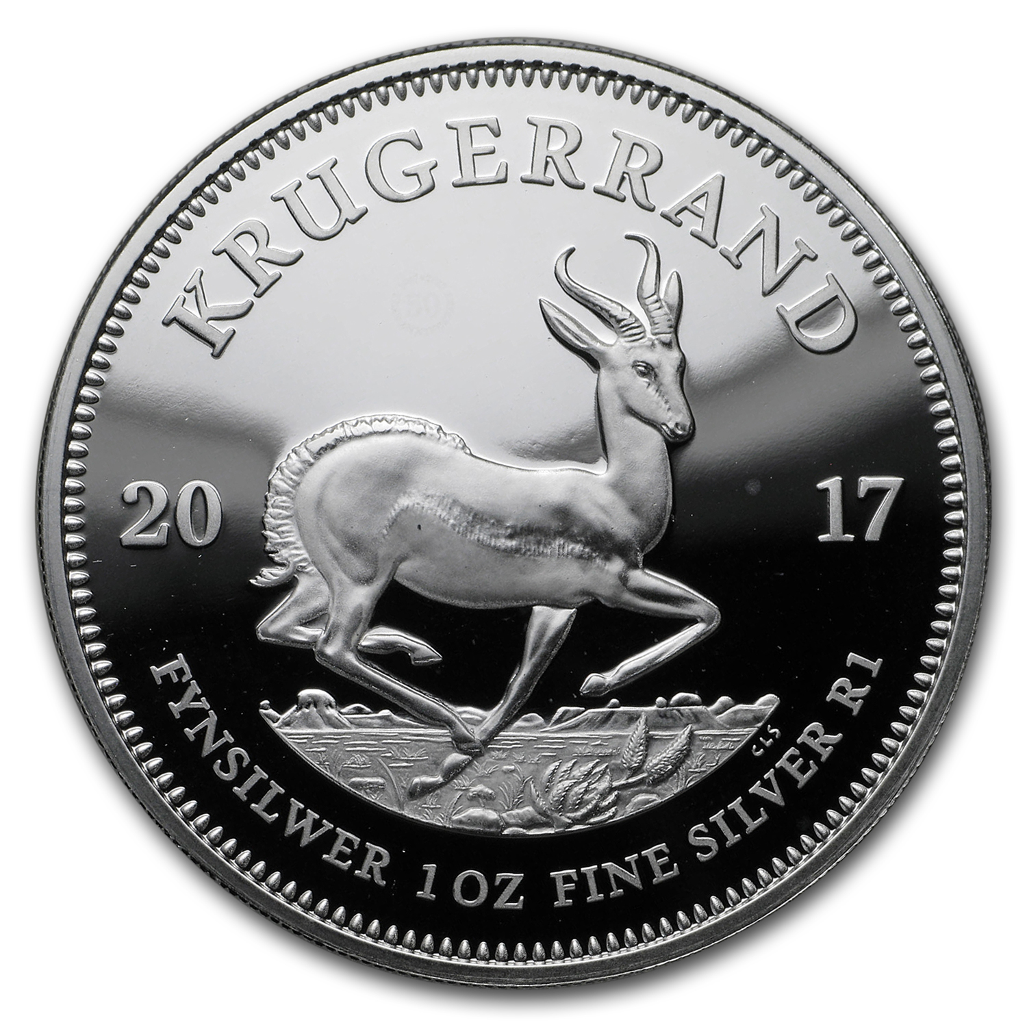 2017 South Africa 1 oz Silver Krugerrand Proof (Abrasions)