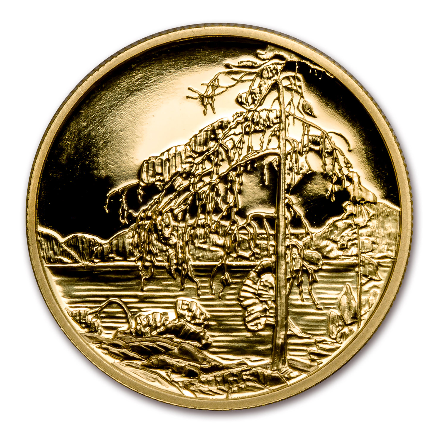 2002 Canada 1/2 oz Proof Gold $200 Jack Pine