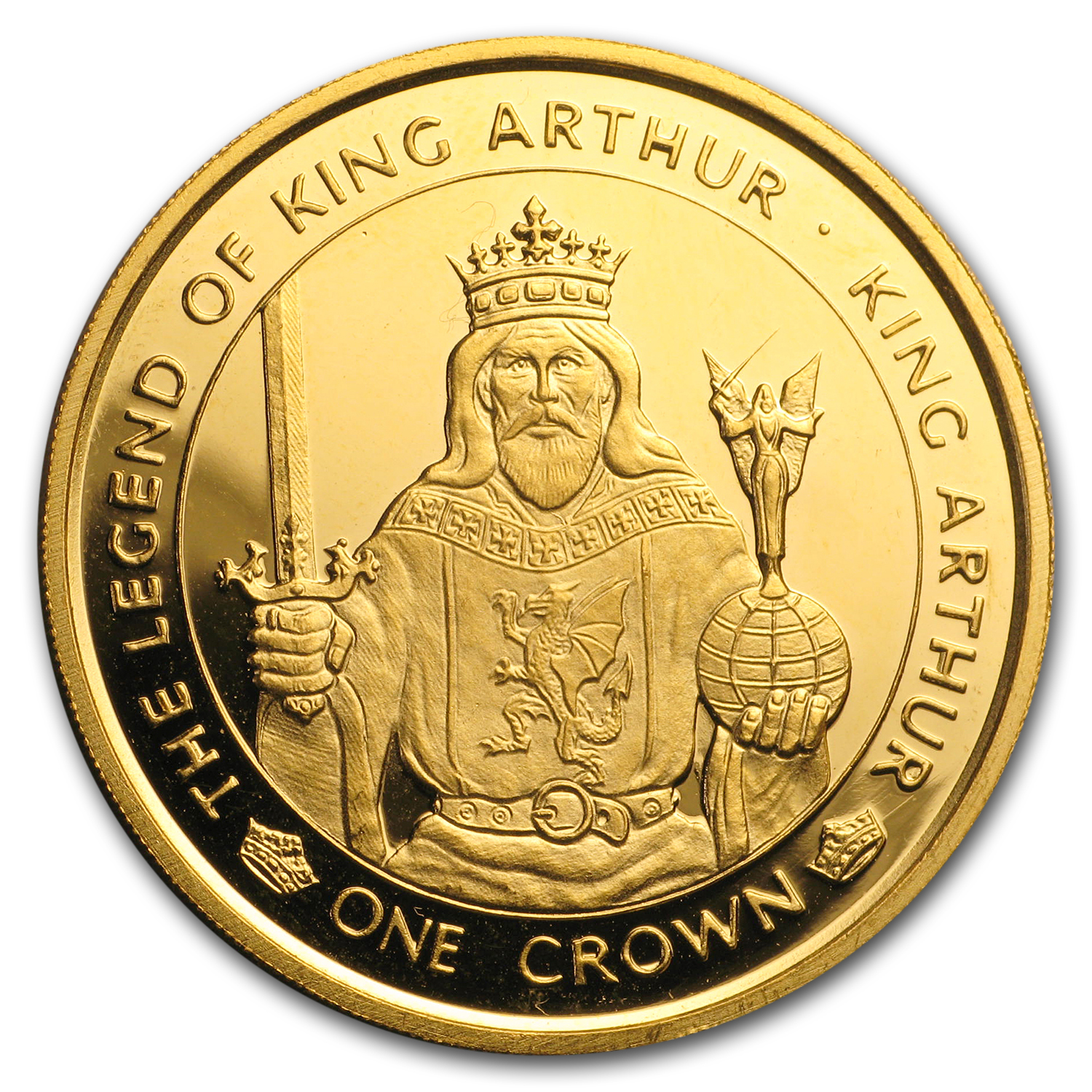 1996 Isle of Man 1 oz Gold King Arthur Proof
