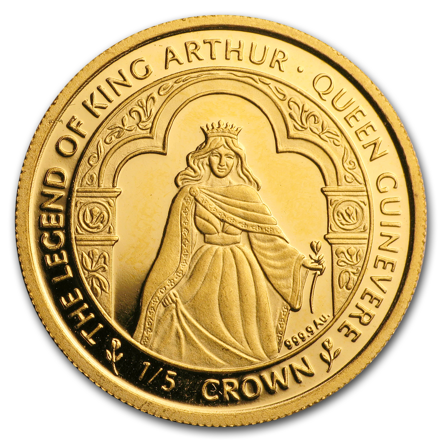 1996 Isle of Man 1/5 oz Gold Queen Guinevere Proof