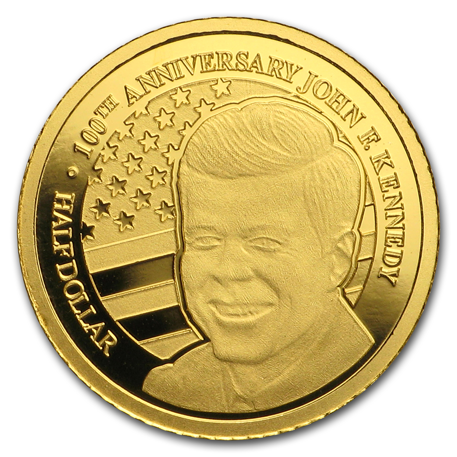 2017 Nauru 1/2 gram Gold 100th Anniversary of John F. Kennedy