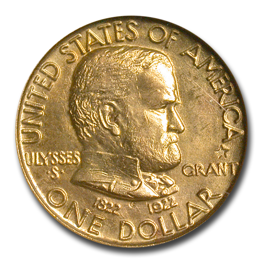1922 Gold $1.00 Grant w/Star MS-64 NGC