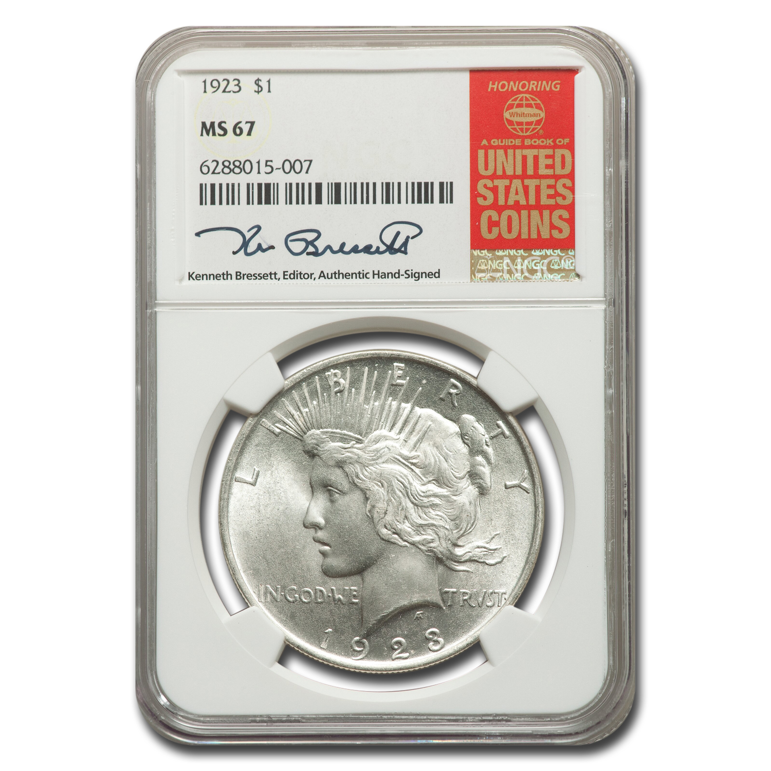 1923 Peace Dollar MS-67 NGC