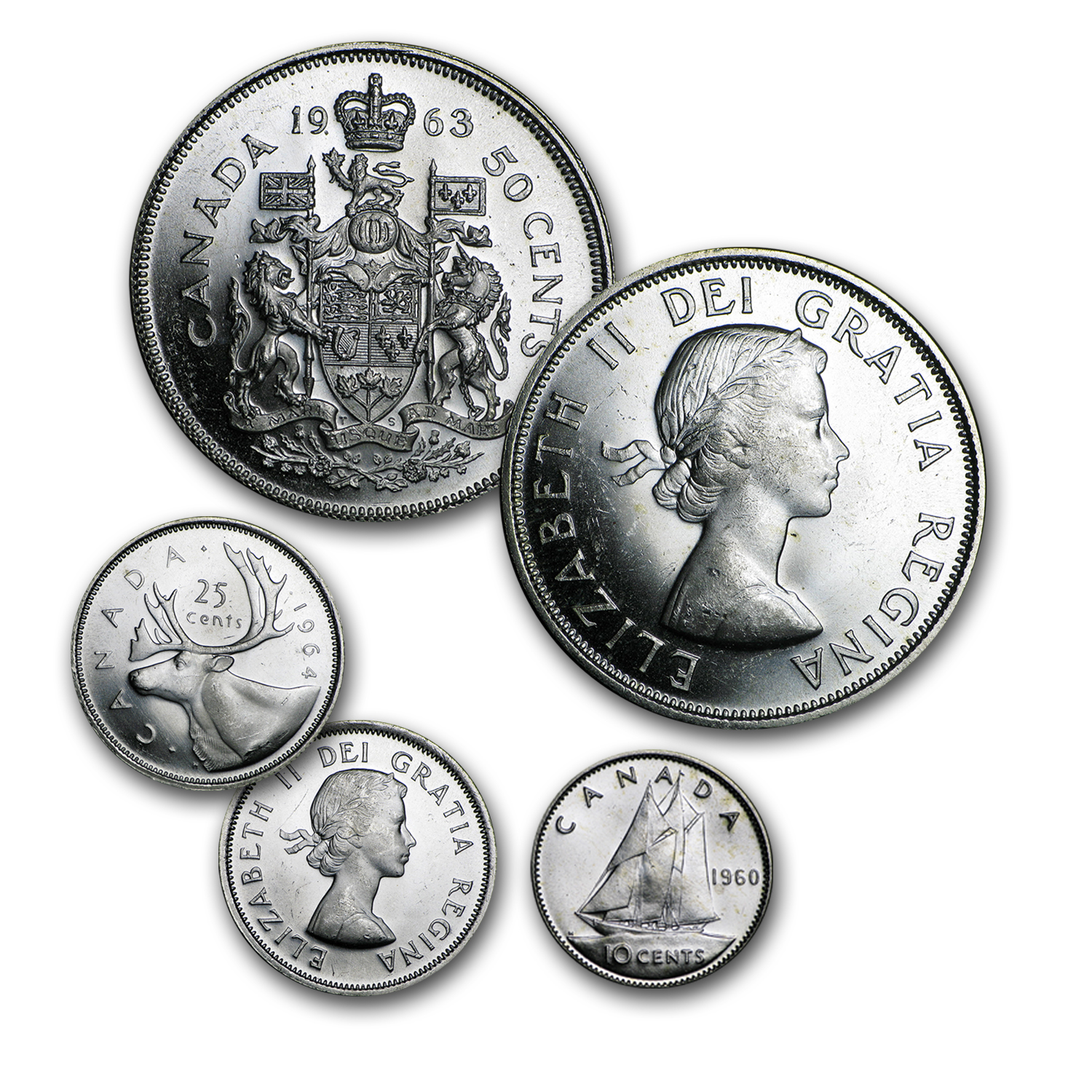 80% Silver Canadian Coins BU ($10 CAD Face Value)