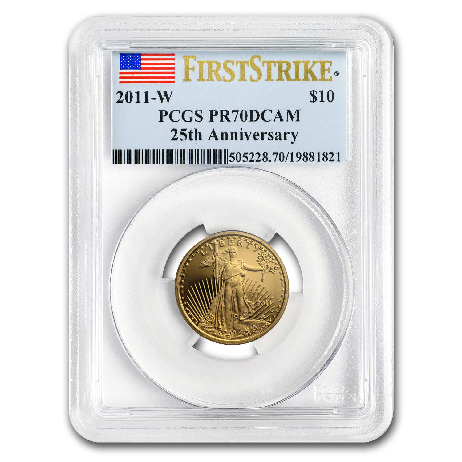 2011-W 1/4 oz Proof Gold American Eagle PR-70 PCGS (First Strike)