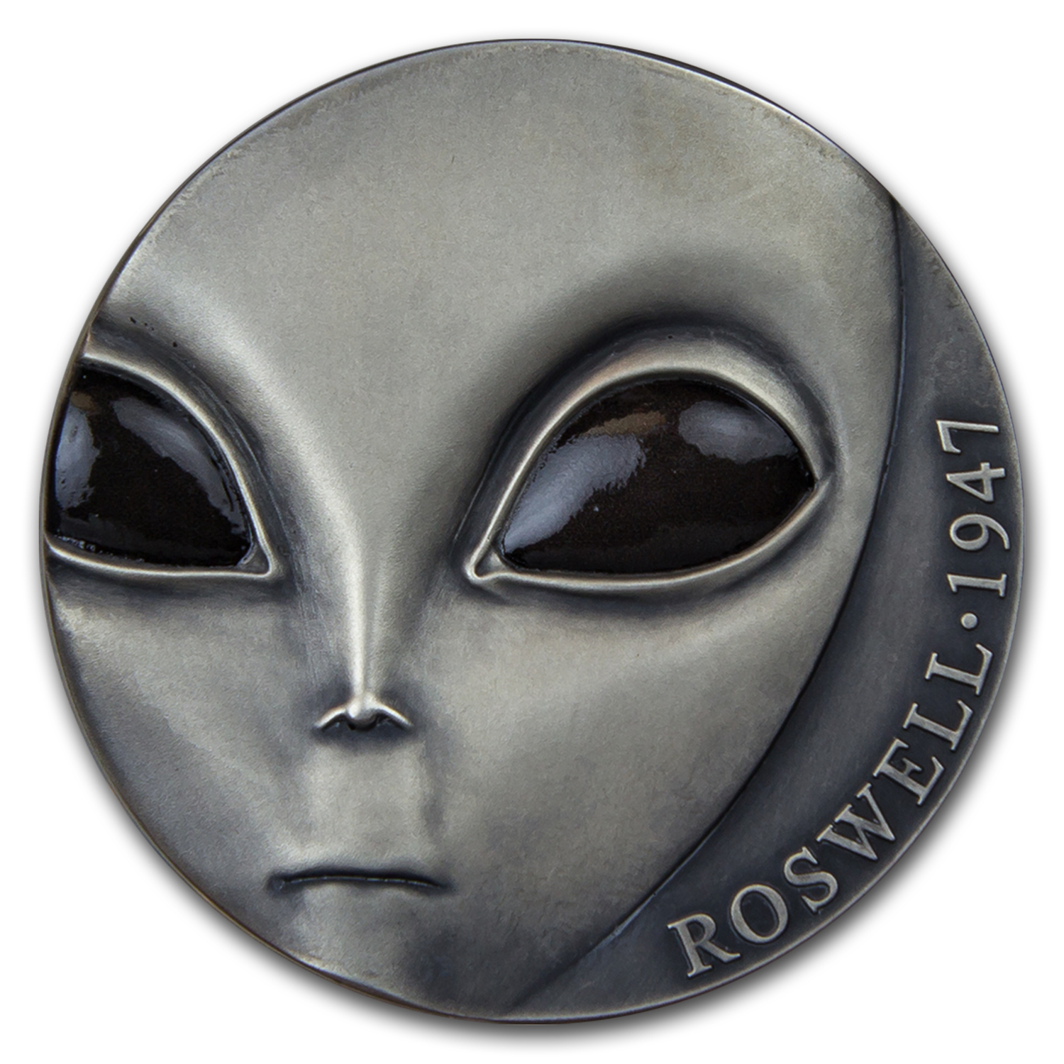 2017 Cameroon Silver UFO Series - 70th Anniv. of Roswell Incident