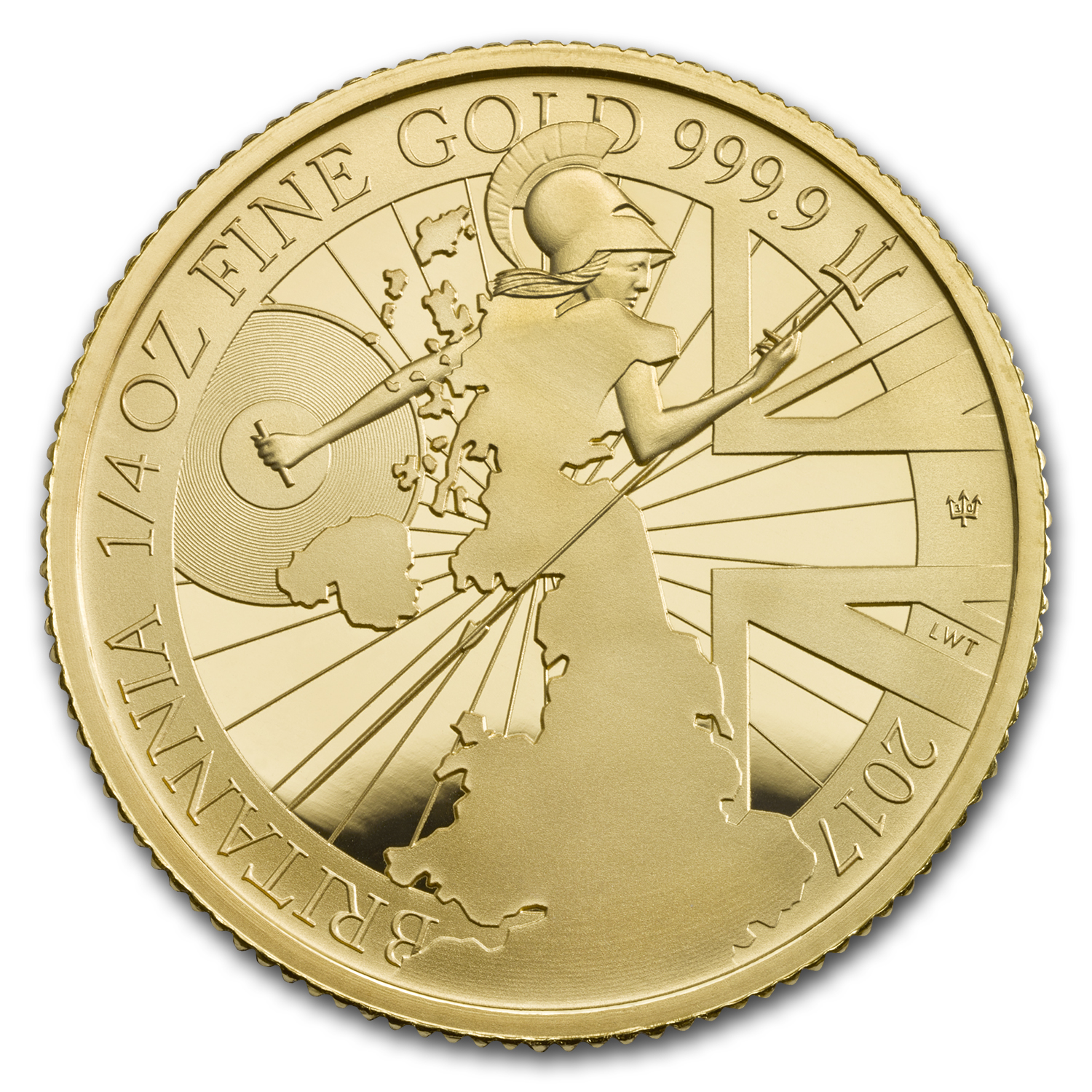 2017 Great Britain 1/4 oz Proof Gold Britannia