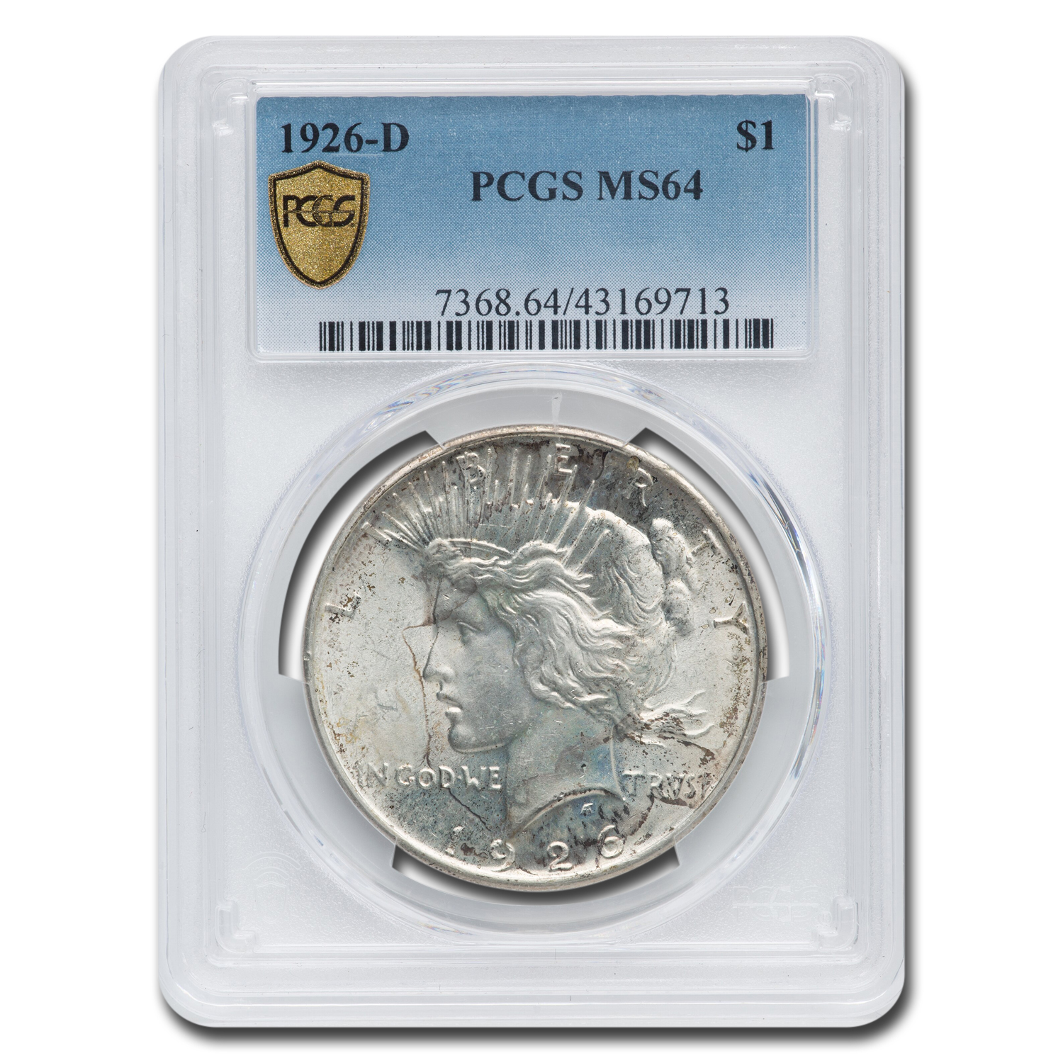 1926-D Peace Dollar MS-64 PCGS (Toned)