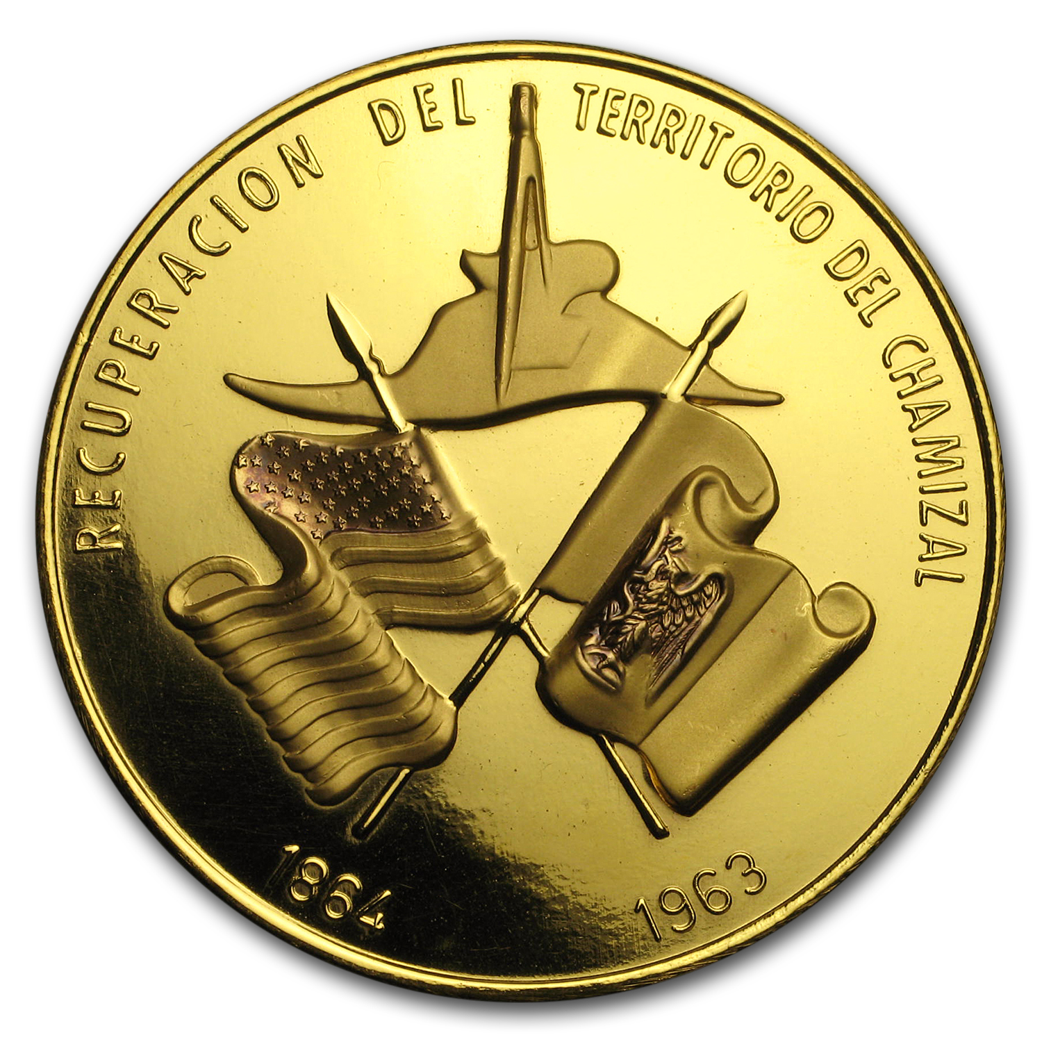 1963 Mexico Gold Recovery of Chamizal Territory Medal BU (1.8 oz)