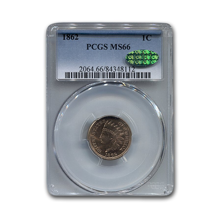 1862 Indian Head Cent MS-66 PCGS CAC